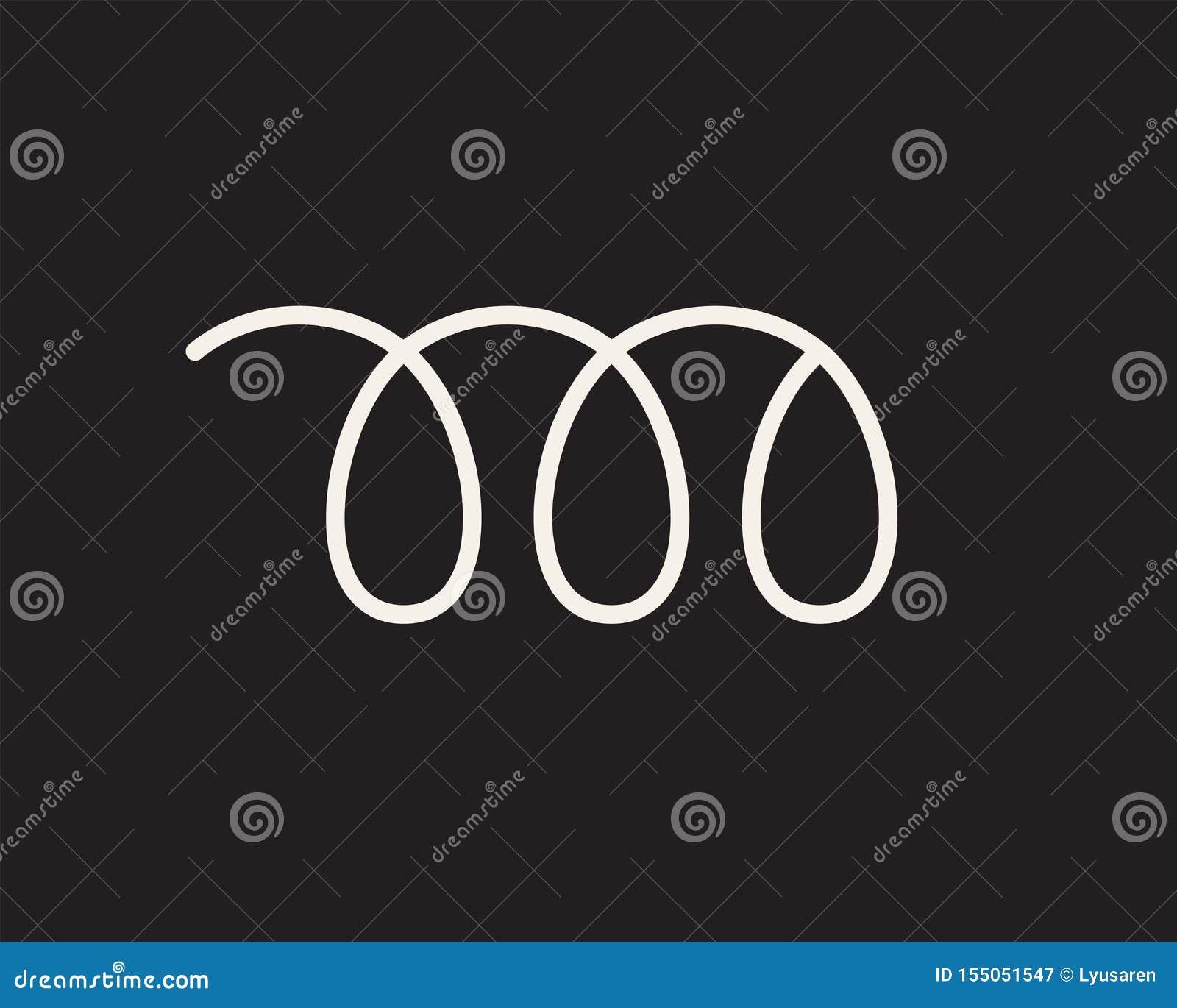 Élastique flexible de fil de spirale blanche sur le noir