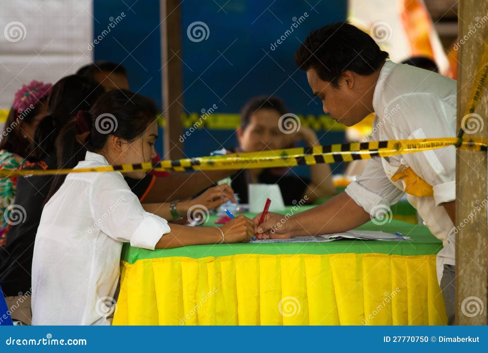 Élections du maire sur l île de Chang de KOH