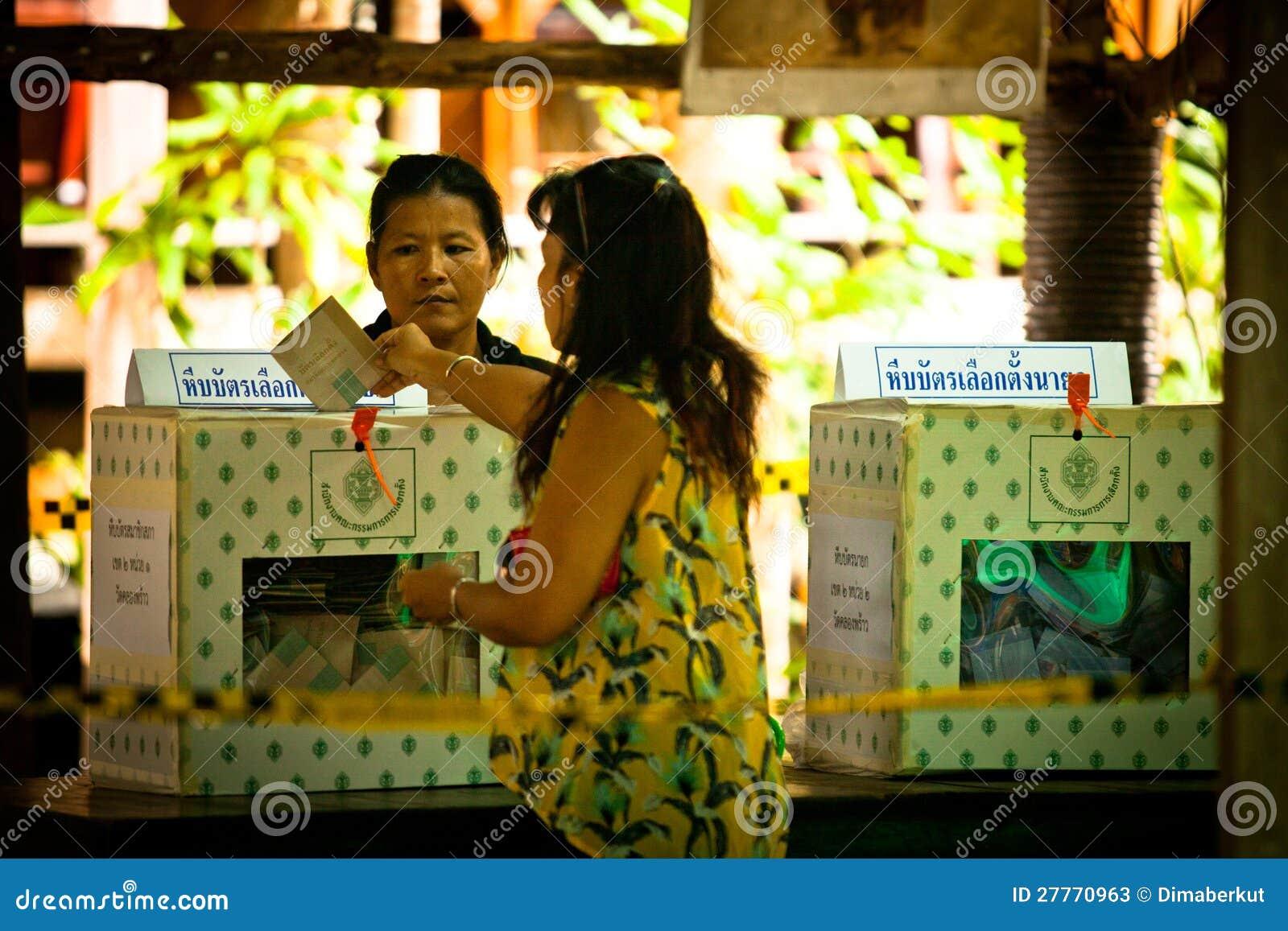 Élections du maire sur le KOH Chang, Thaïlande