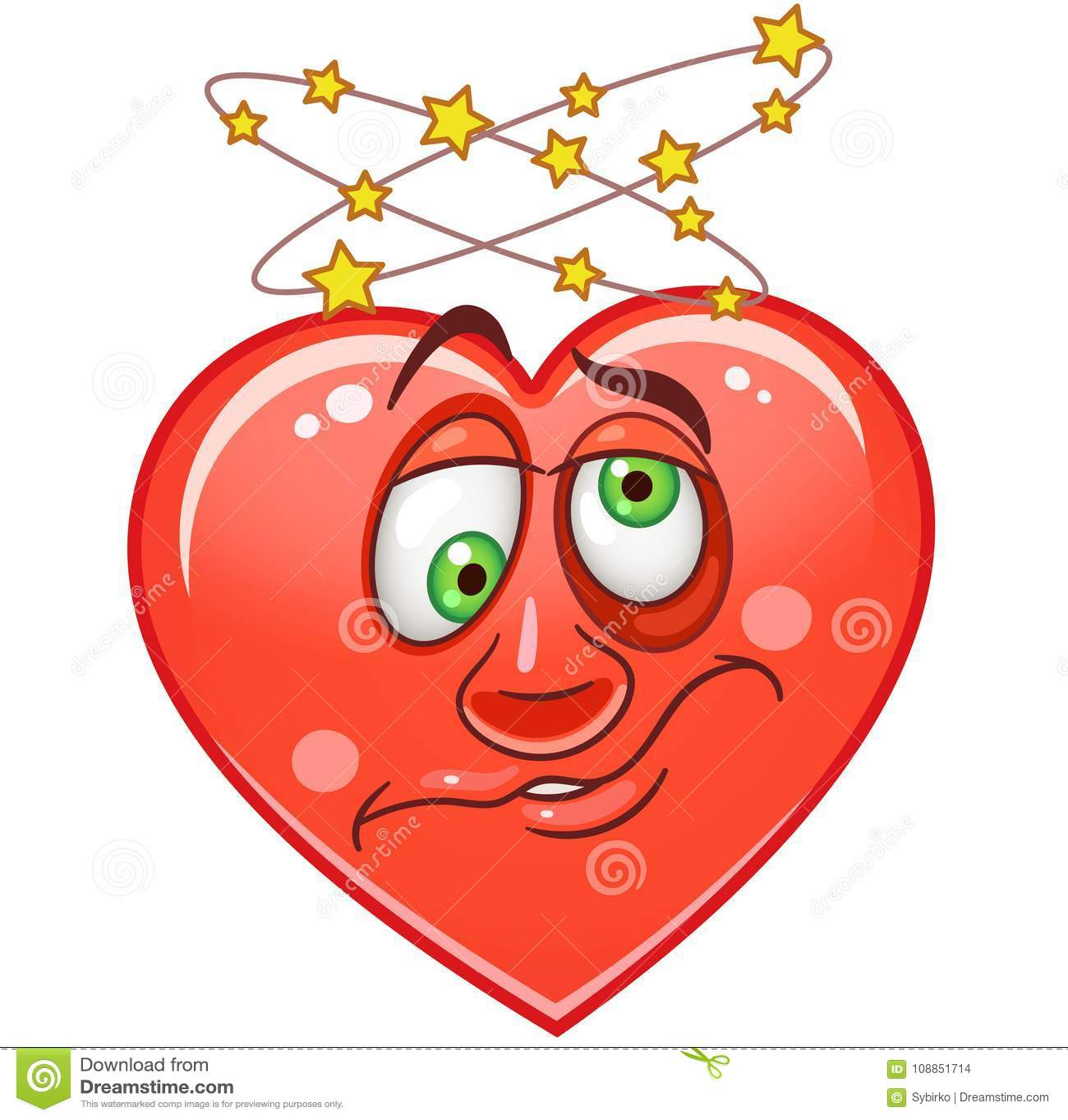Emoticones Smiley Emoji De Coeur Illustration De Vecteur