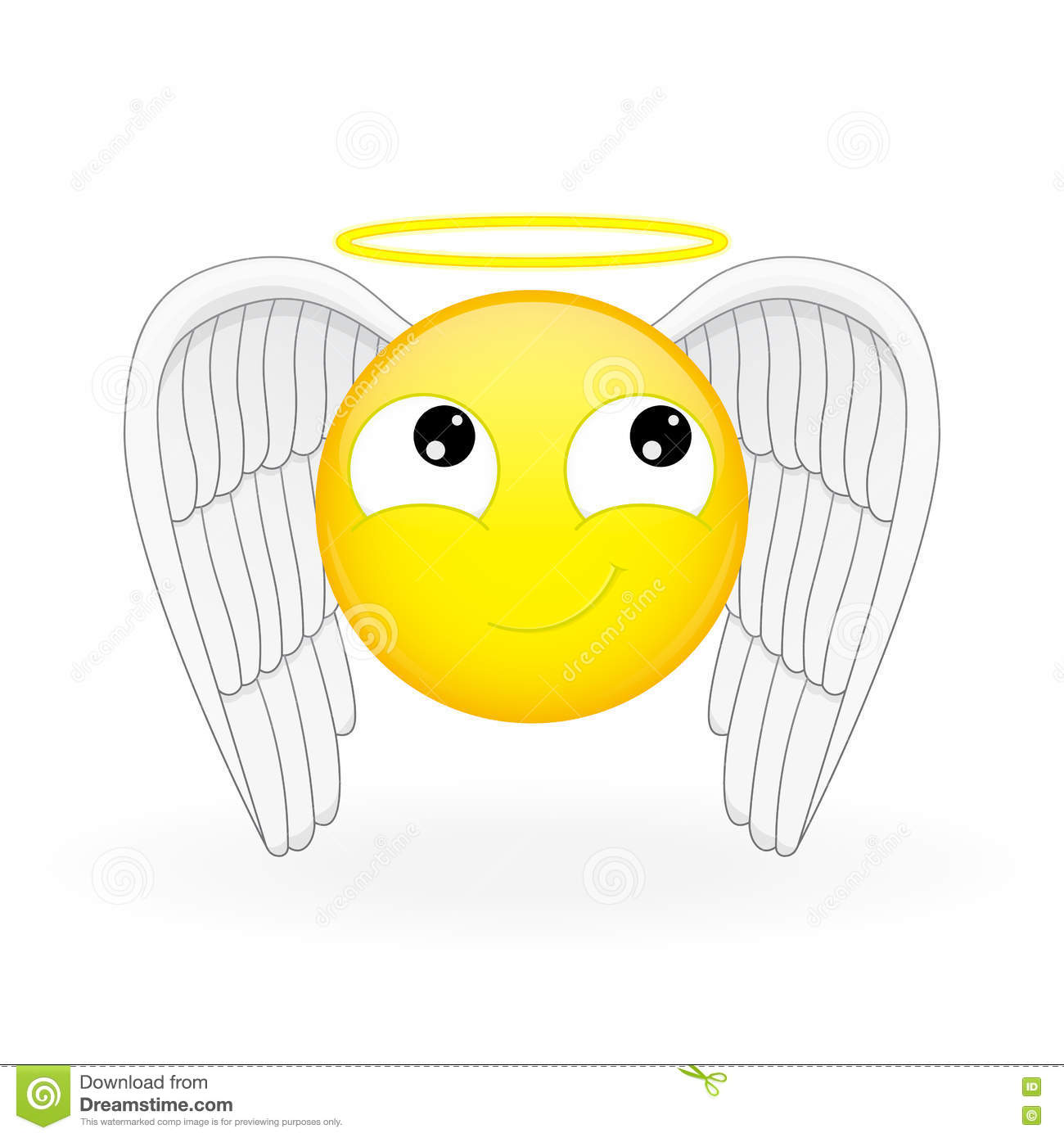 Emoticone Avec Des Ailes Et Nimbus Emoticone D Ange Emoticone Sainte Emoji Innocent Illustration De Vecteur Illustration Du Ailes Avec 76862738
