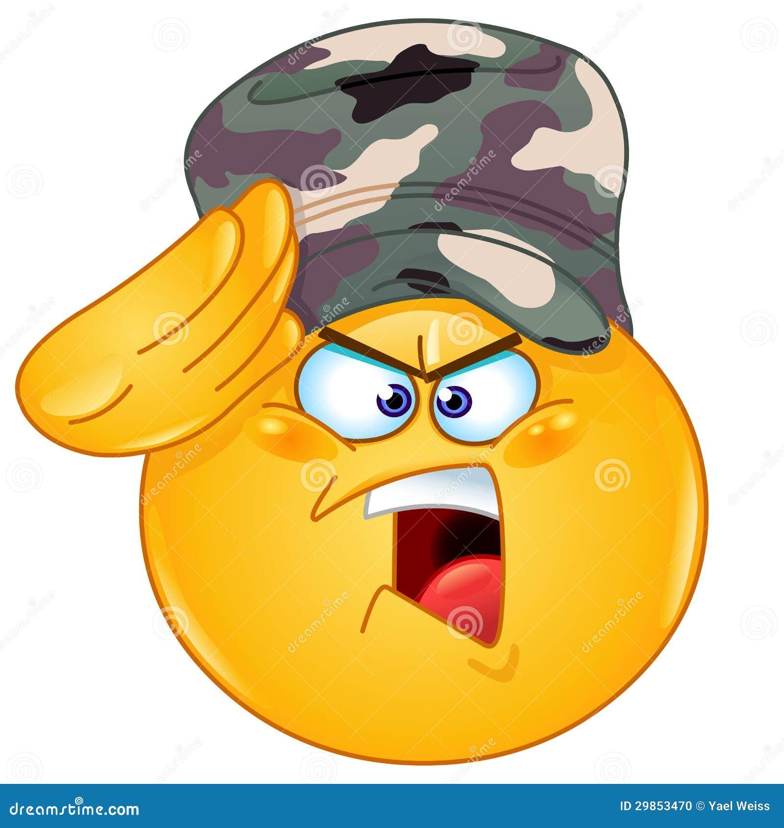 émoticône De Salutation De Soldat Illustration De Vecteur Illustration Du Soldat Salutation 29853470