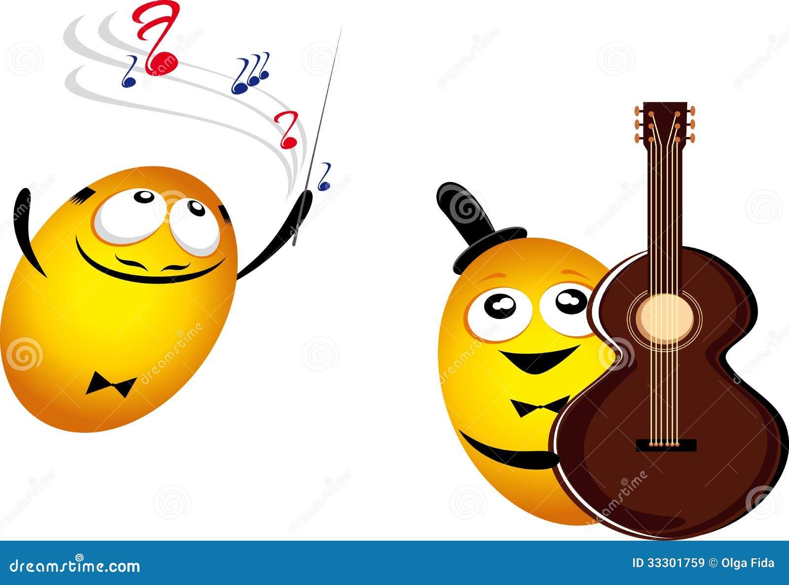 Emoticones De Musique Illustration De Vecteur Illustration Du Caract 33301759