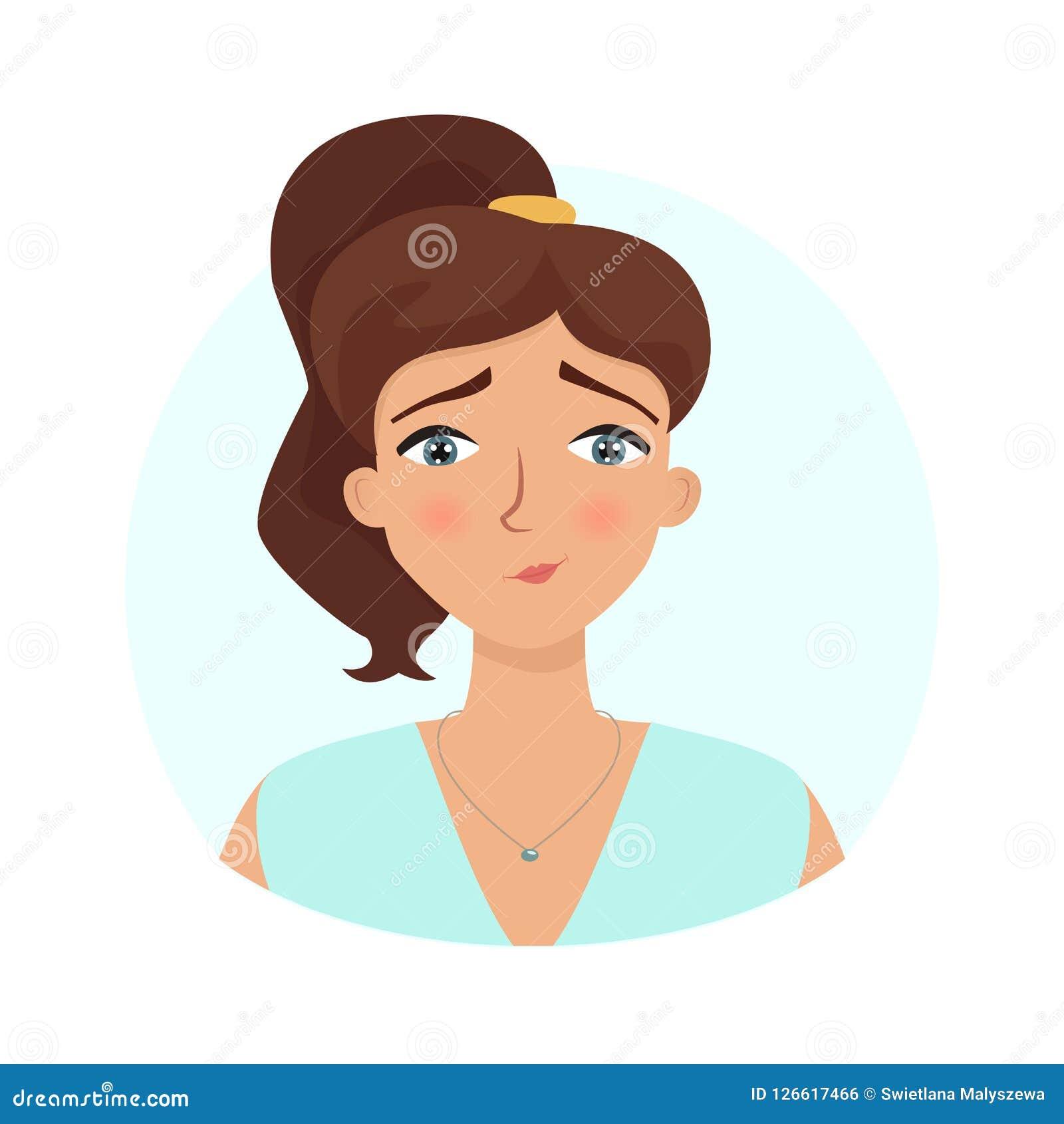 Émotion tendre Expression de visage du ` s de femme