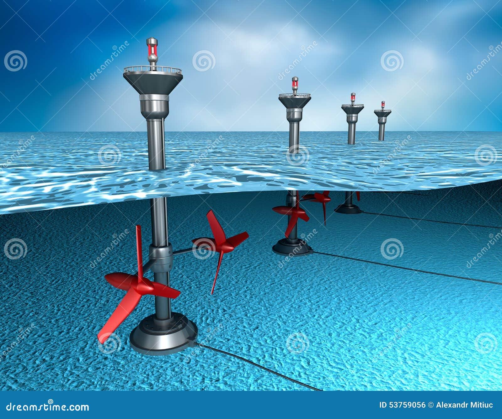 Énergie marémotrice : générateur dans l océan