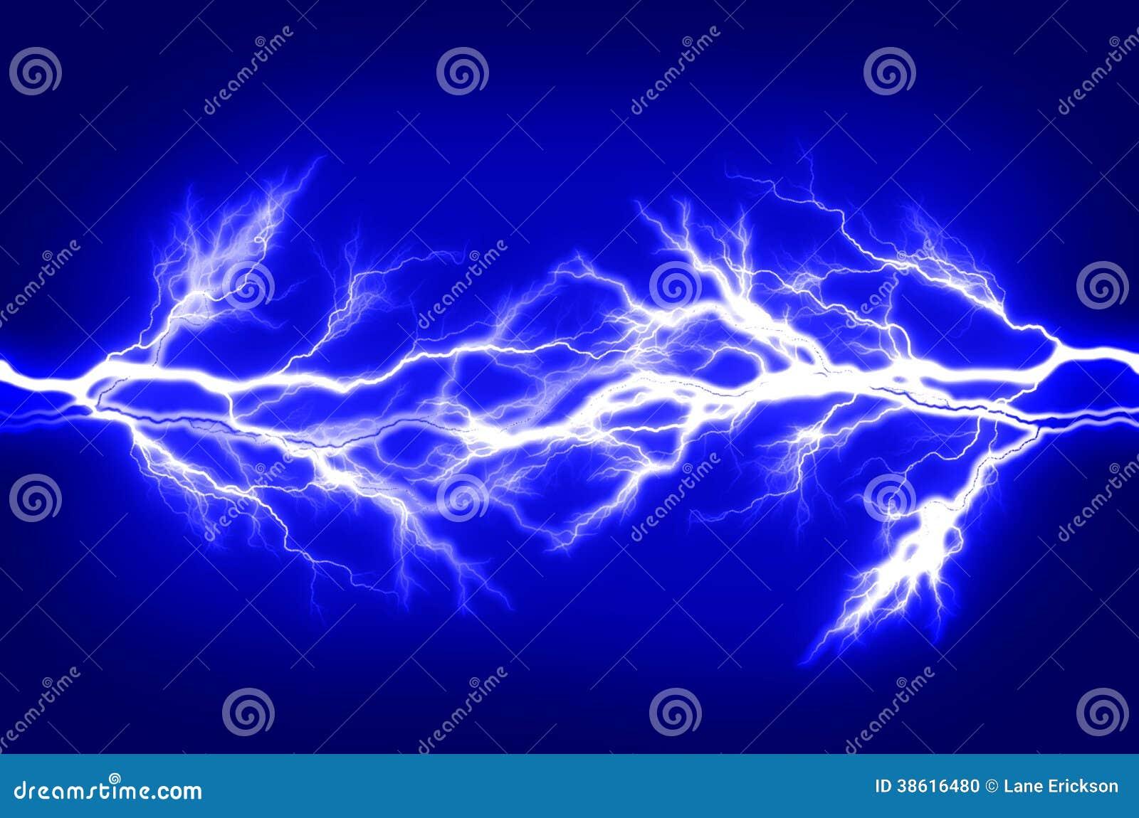 Énergie pure et l électricité symbolisant la puissance
