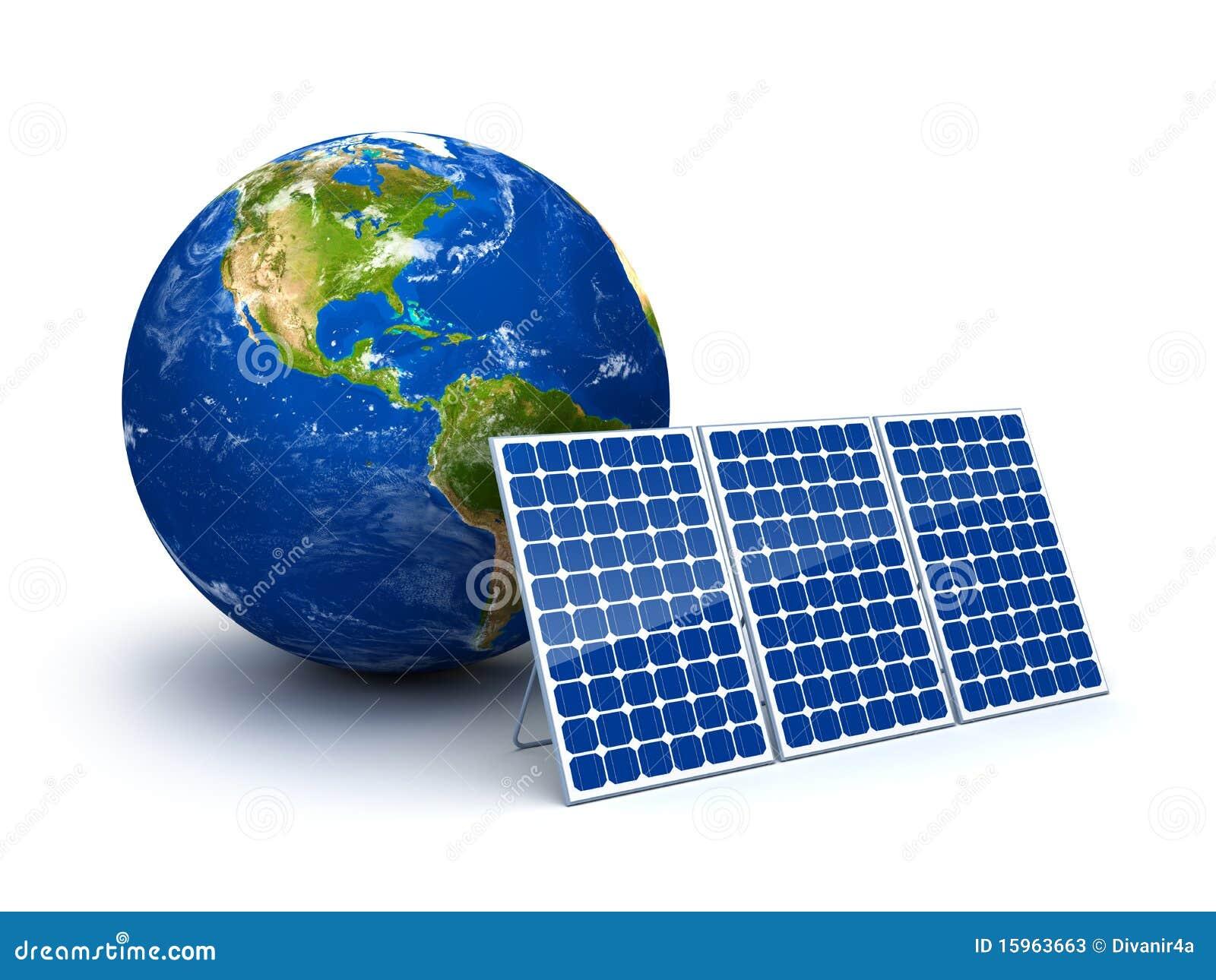 nergie solaire pour la terre de plan te photos stock image 15963663. Black Bedroom Furniture Sets. Home Design Ideas