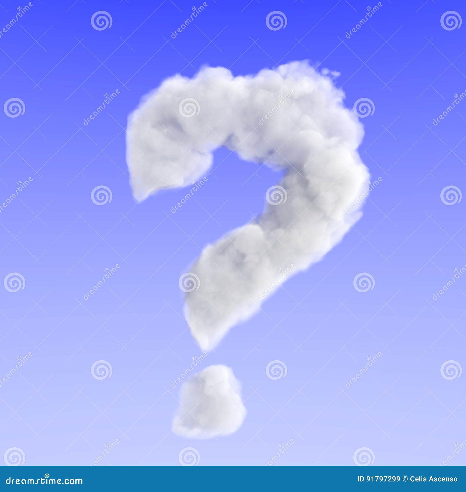 Énigme de point d interrogation de doute de nuage