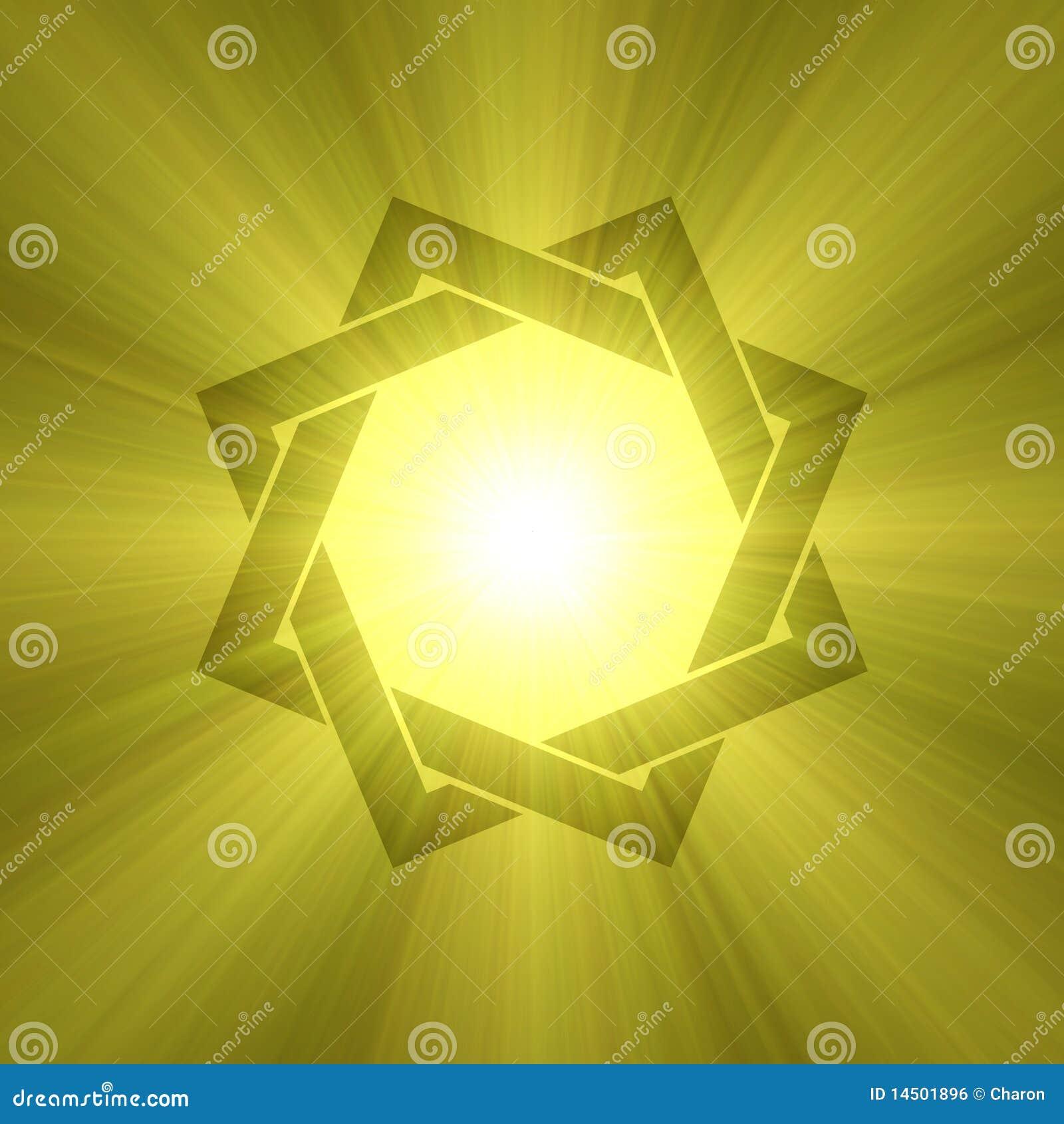 Panouissement De Lumi Re Du Soleil De Symbole D 39 Toile De