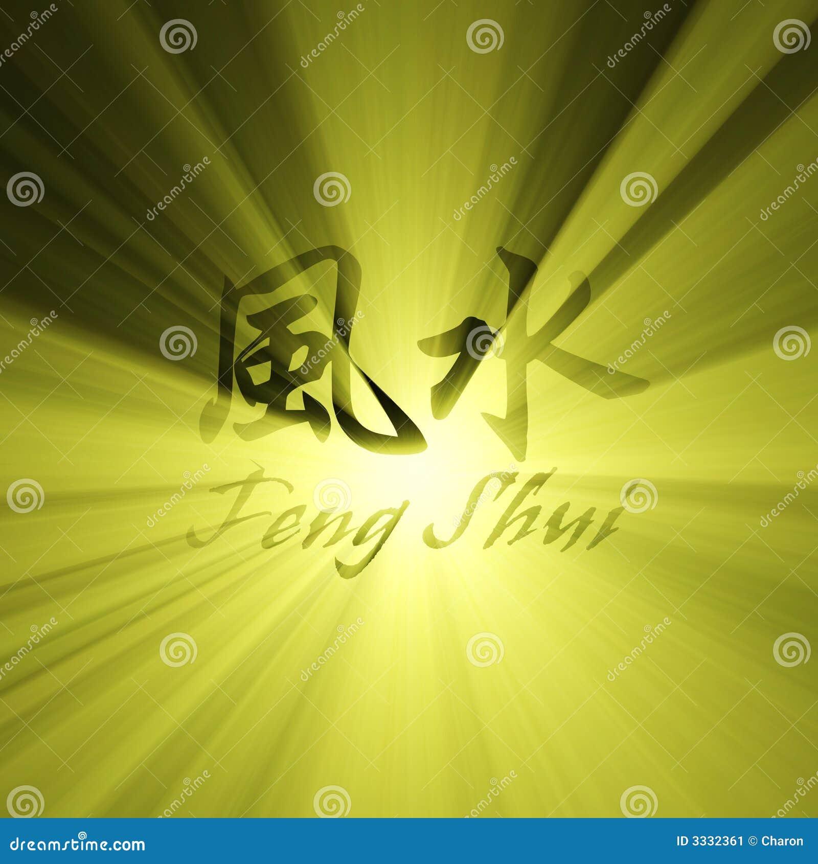 Épanouissement du soleil de caractères de shui de Feng