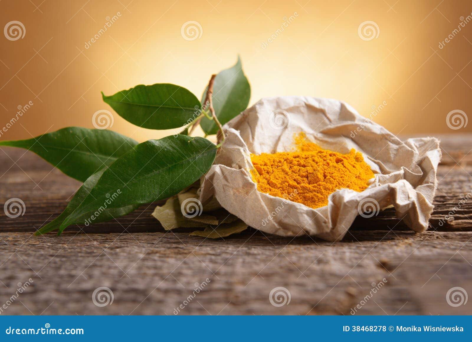 Épice de powwder de safran des indes