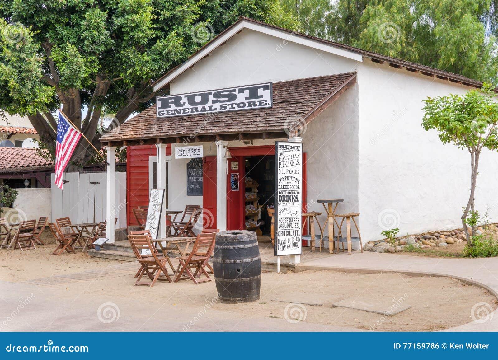 Épicerie générale de rouille à la vieille ville San Diego State Historic Park