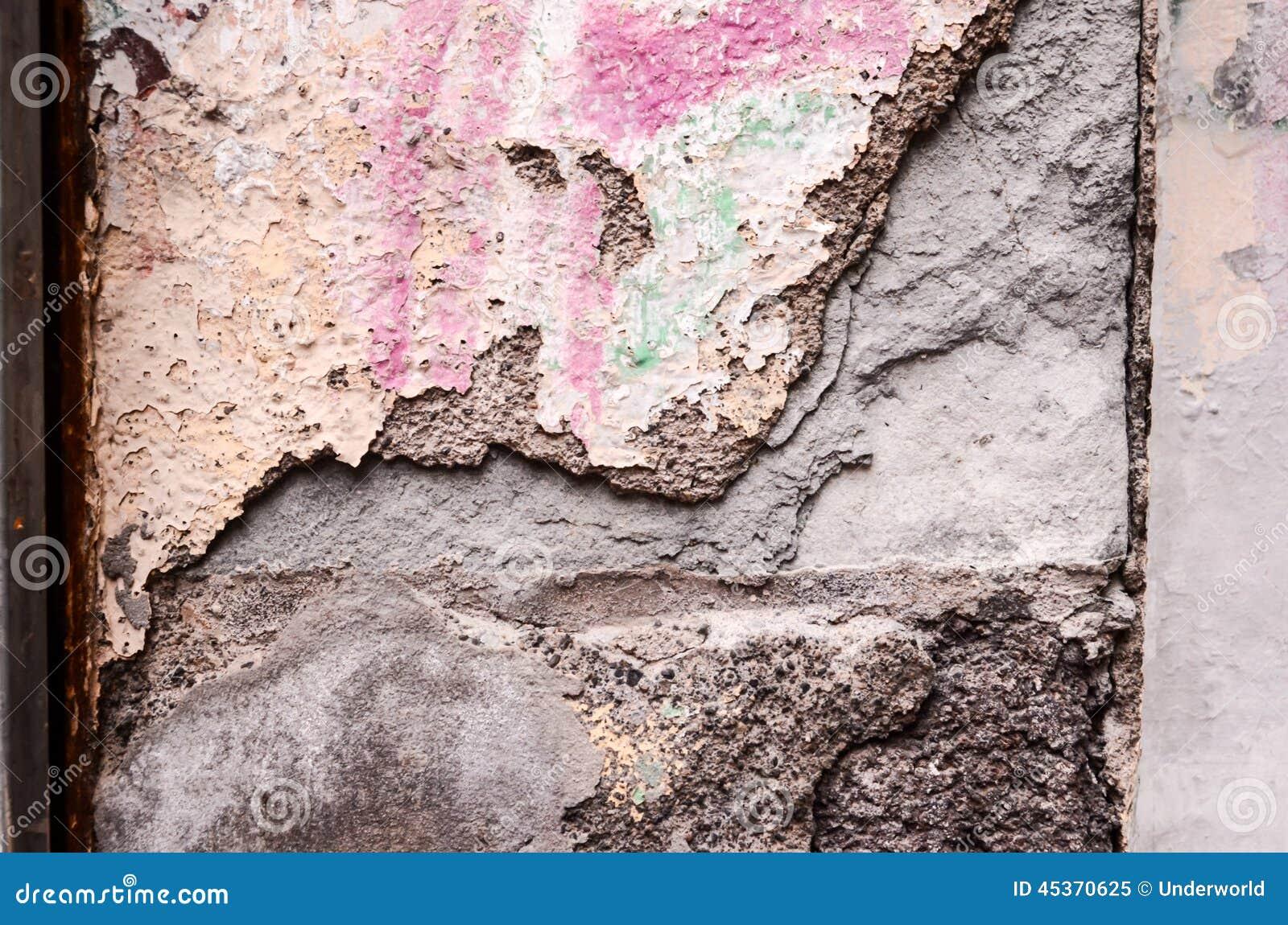 Épluchage de la texture blanche de fond de mur