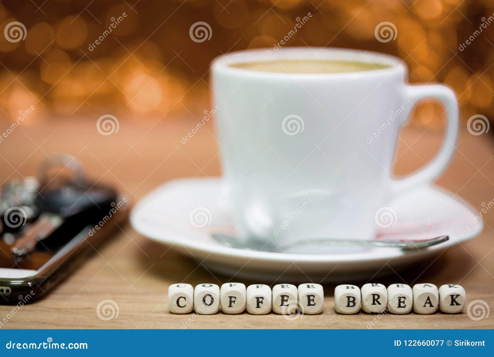 Épocas del café, descanso para tomar café