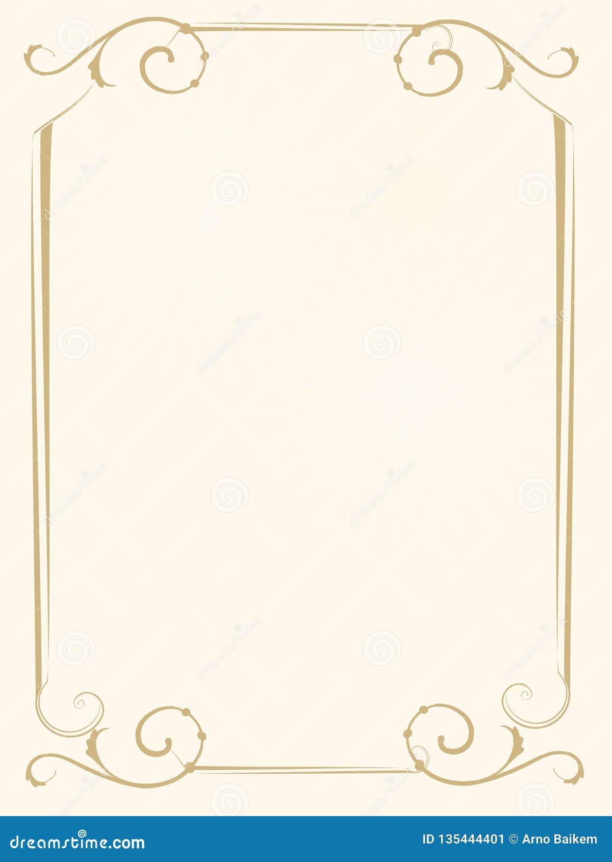 Épouser l invitation ou le cadre du rapport de couverture d or d honneur