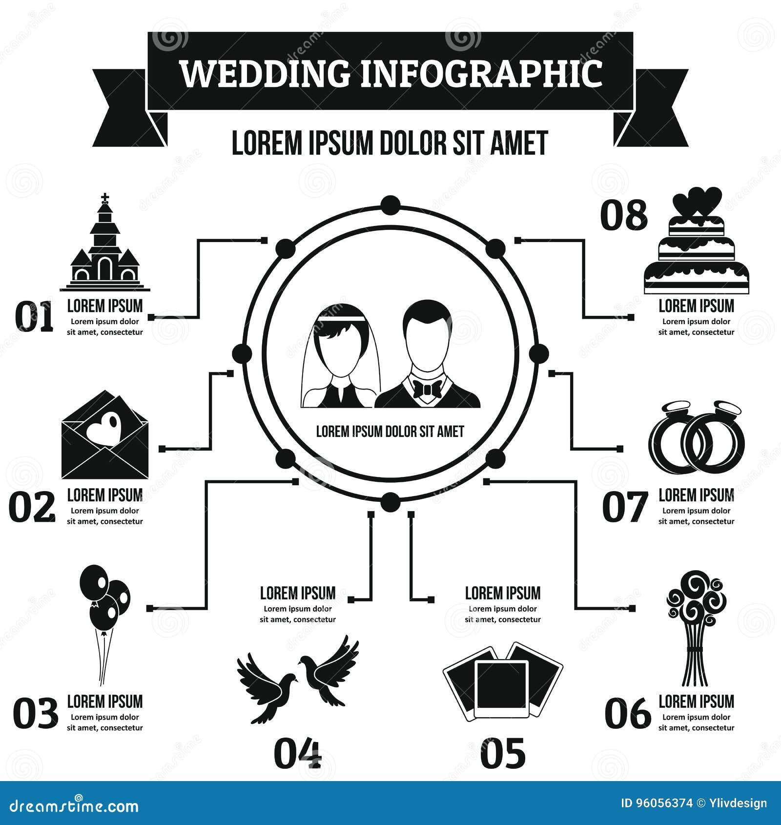 Épouser le concept infographic, style simple
