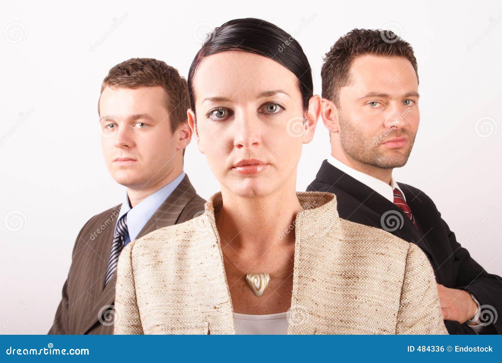 Équipe 3 d affaires de trois personnes