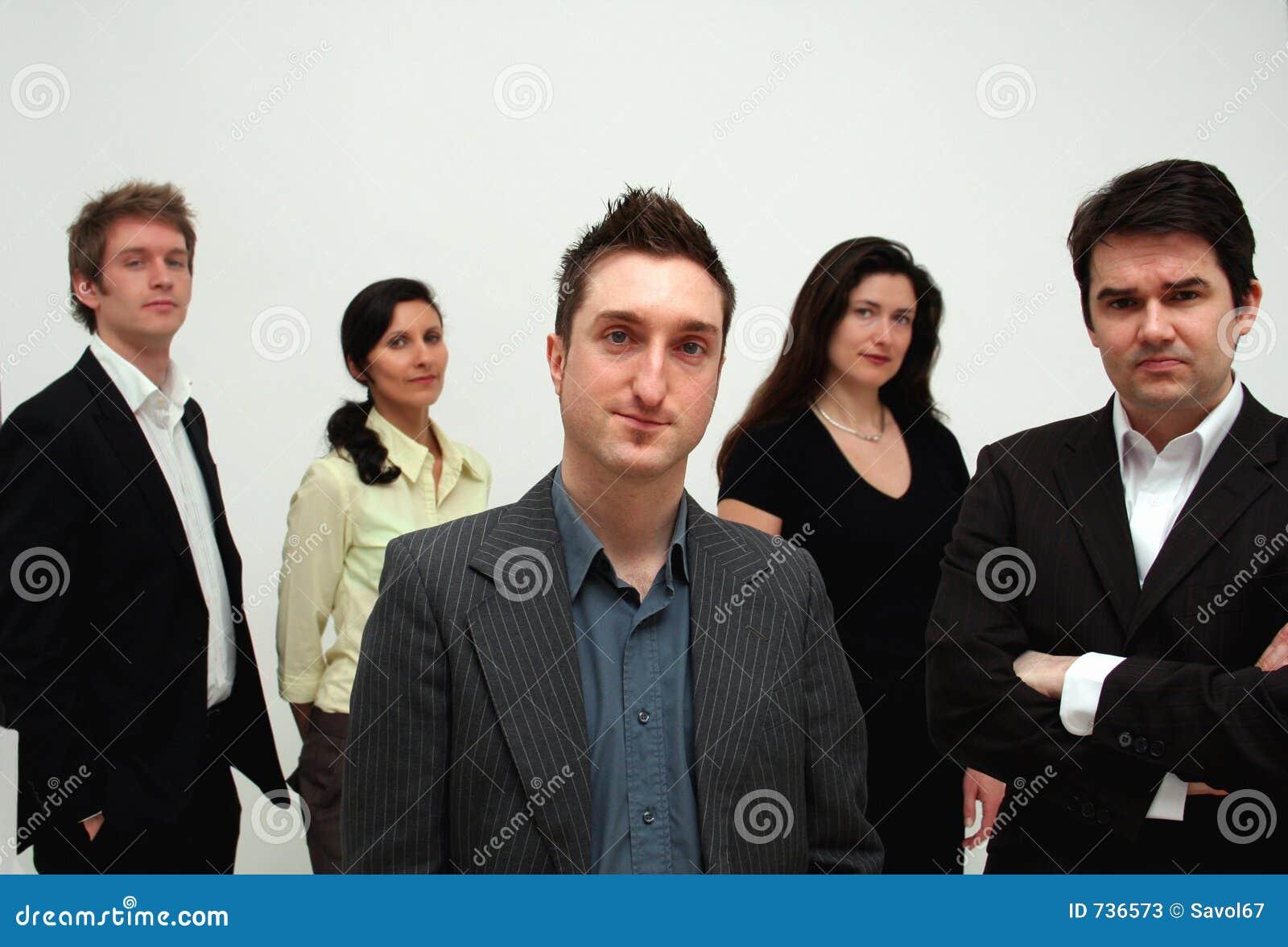 Équipe d affaires - conduite conceptuelle