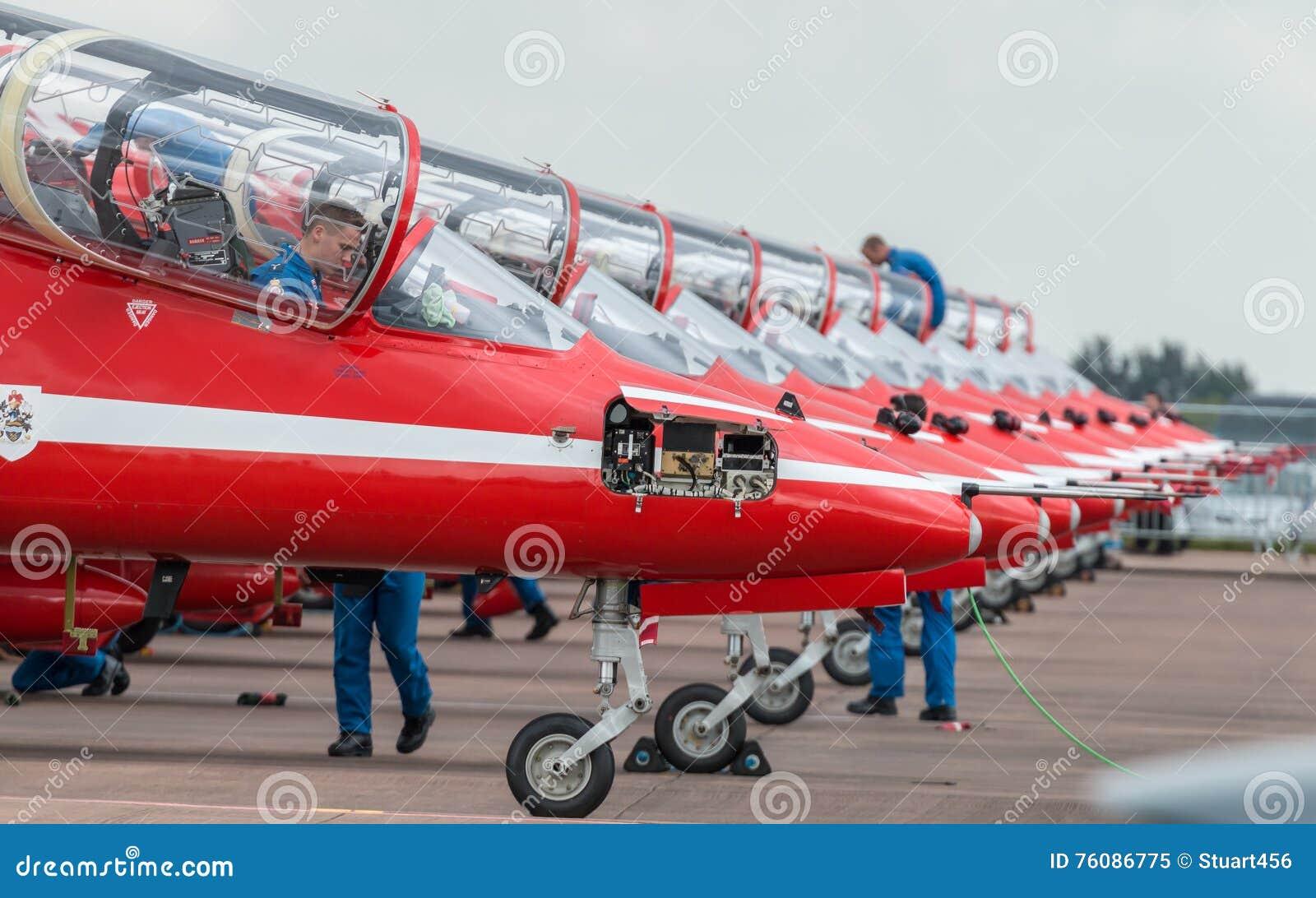 Équipe d affichage de RAF Red Arrows 2016