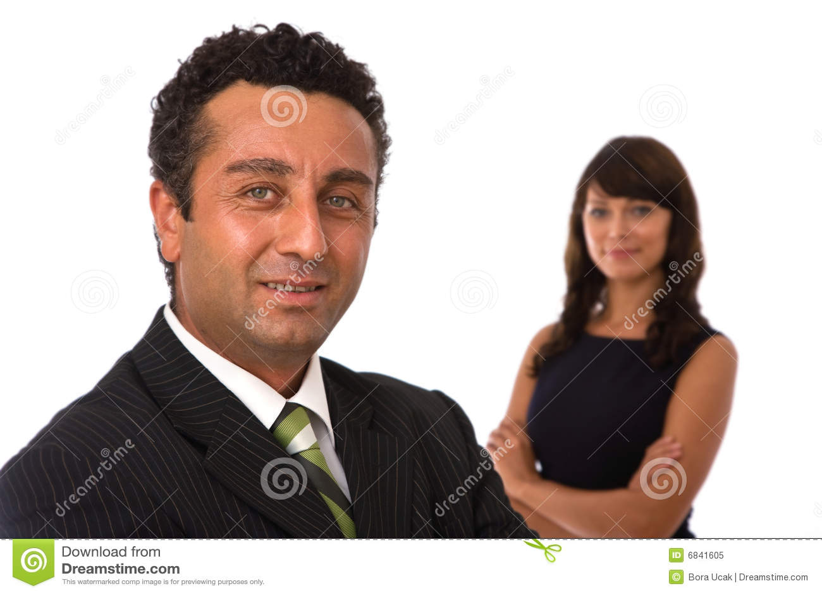 Équipe heureuse d affaires