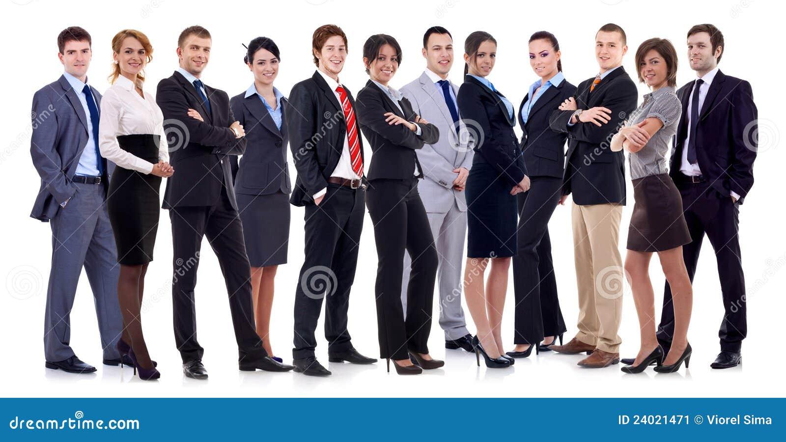 Équipe heureuse réussie d affaires