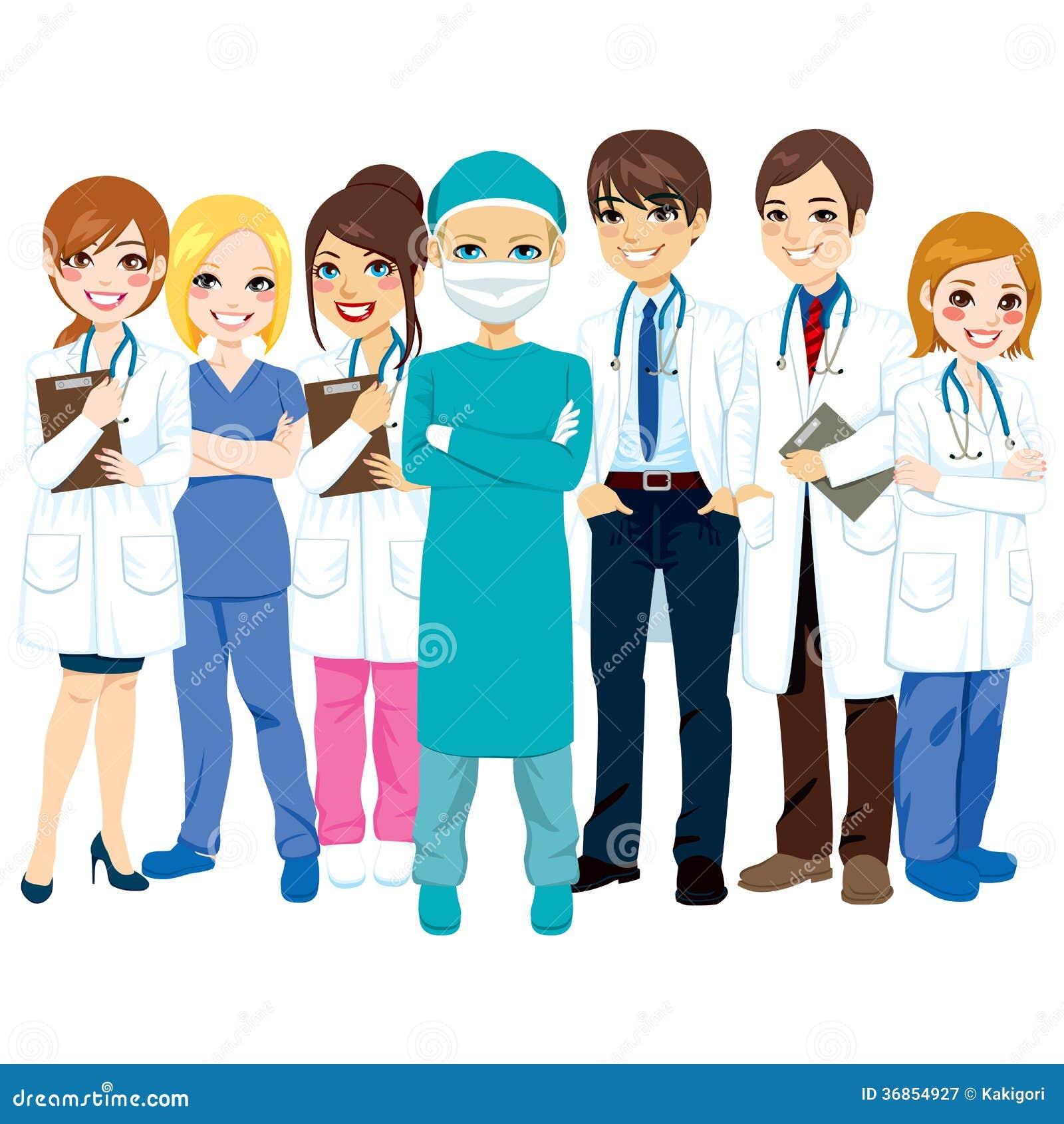 Équipe médicale d hôpital