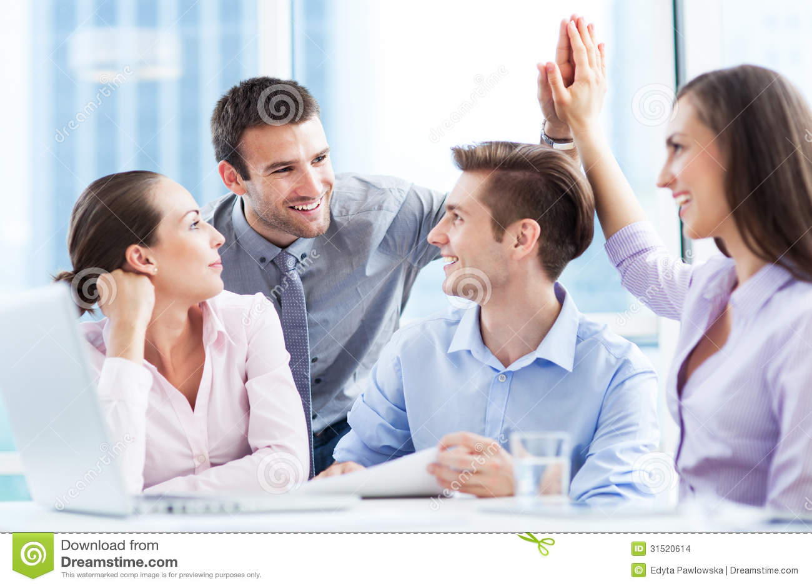 Équipe réussie d affaires
