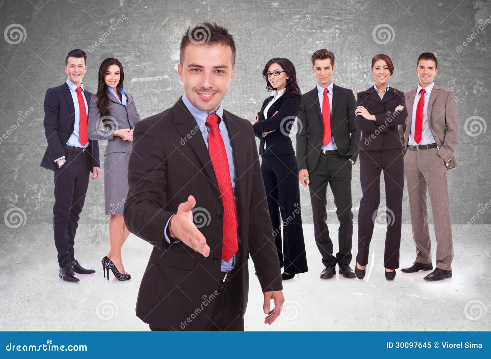 Rencontrer des hommes d'affaires