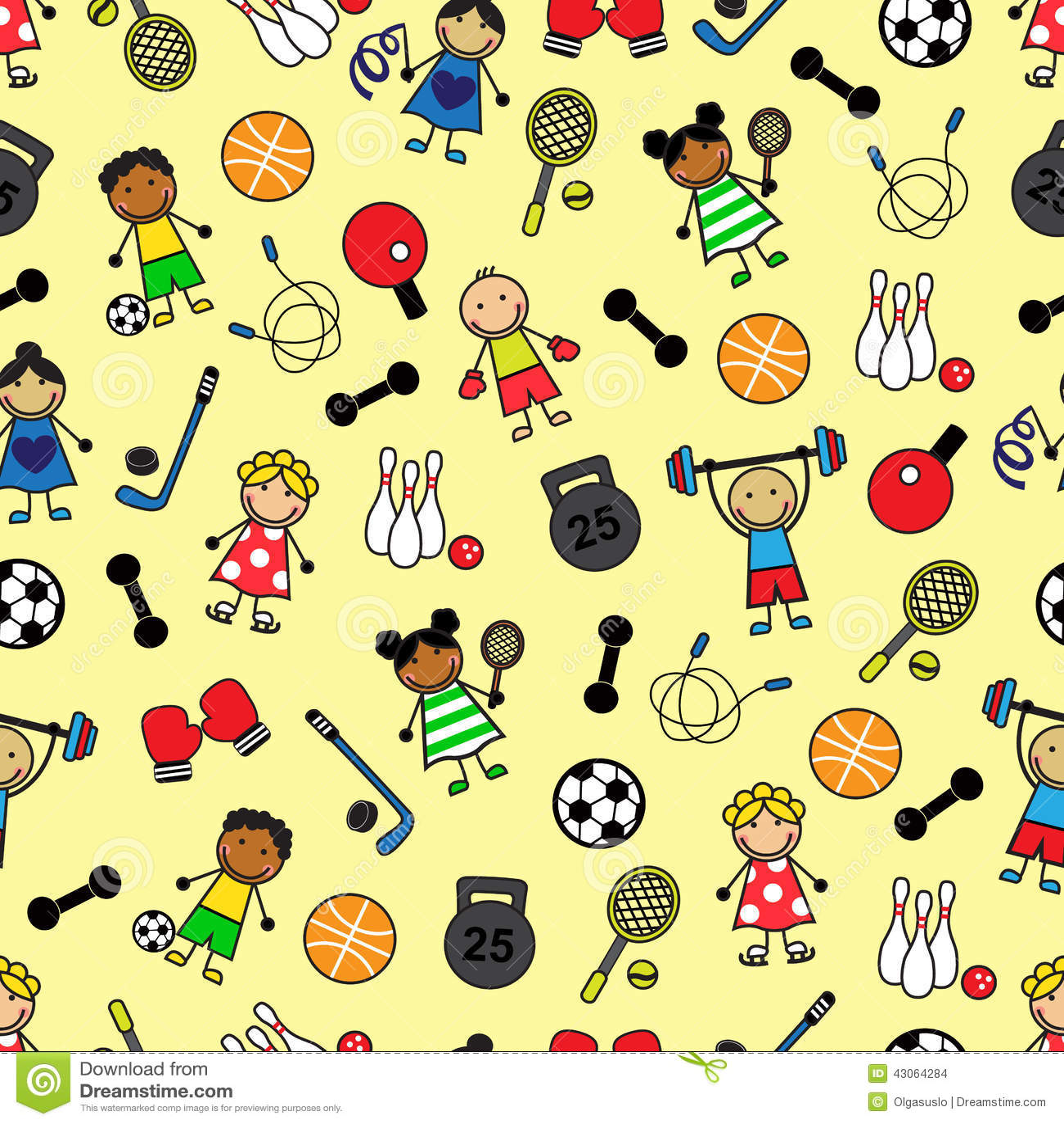 Équipement et enfants de sport