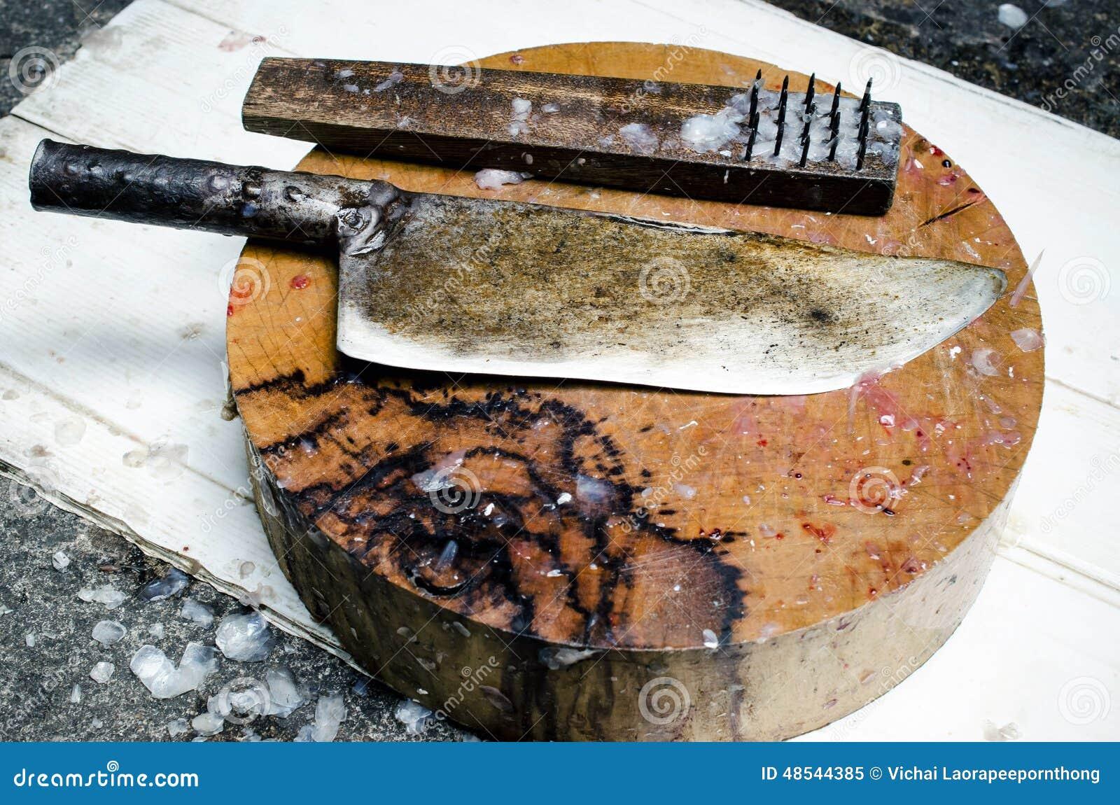 Quipement pour des poissons de tranche sur la planche for Bloc de nourriture pour poisson