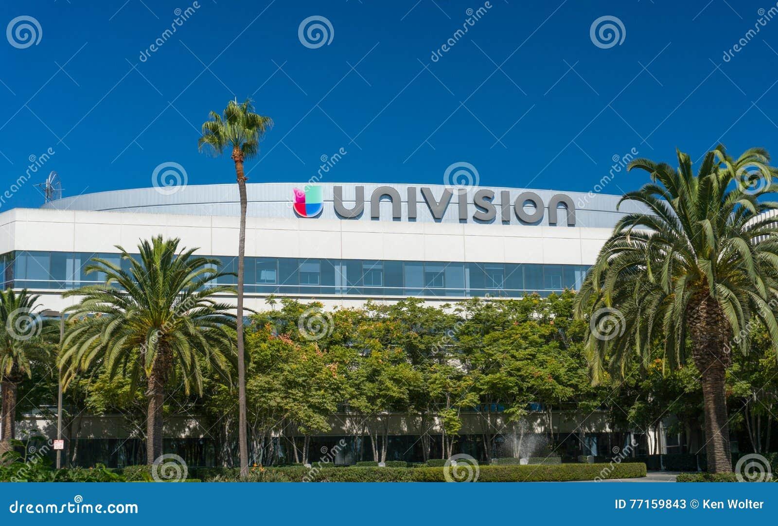 Équipements et logo d émission d Univision Los Angeles