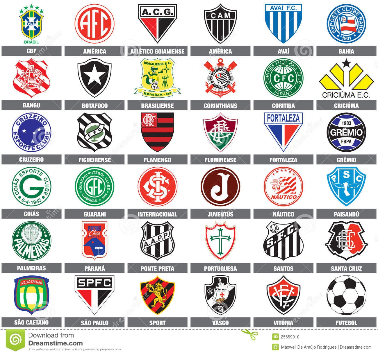 Quipes de football br siliennes image ditorial illustration du paulo passion 25659910 - Logo club foot bresil ...