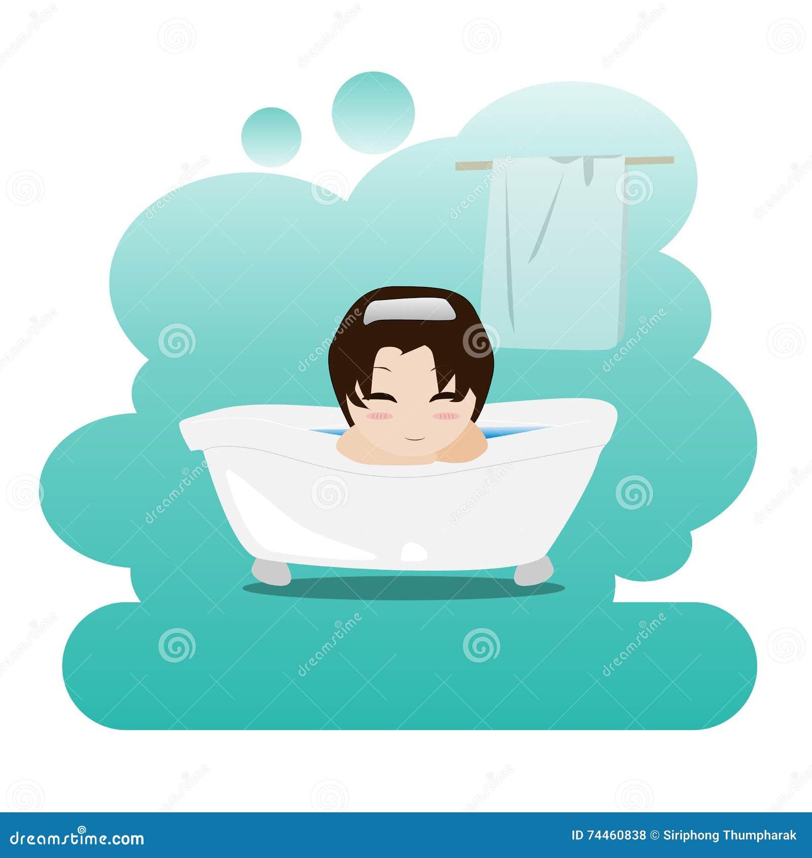 Equipez Prendre Un Bain Moussant De Detente Dans La Salle De Bains