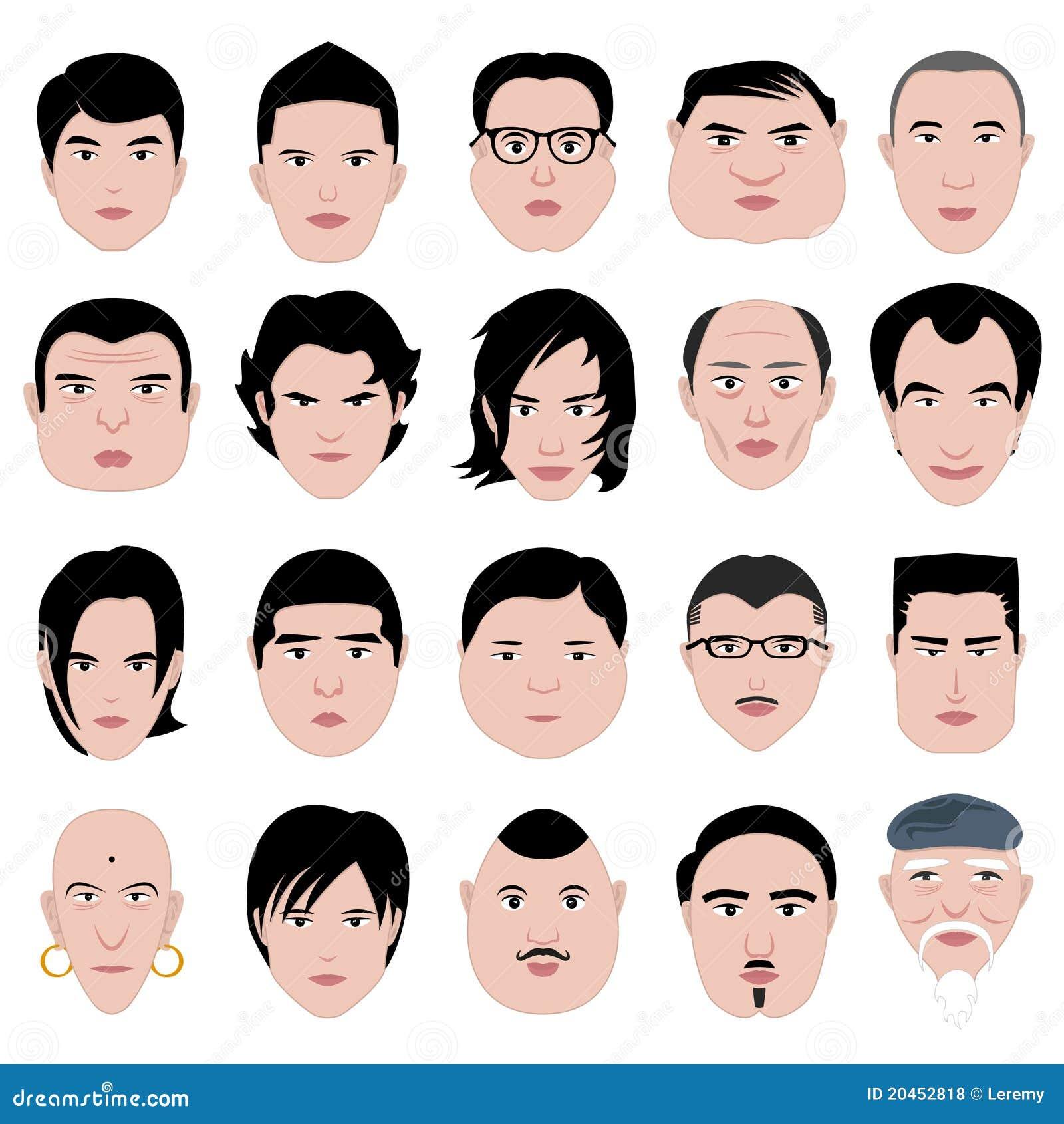 Quipez vieux mince rond de coiffure de forme de visage gros photos libres de droits image - Visage oblong homme ...
