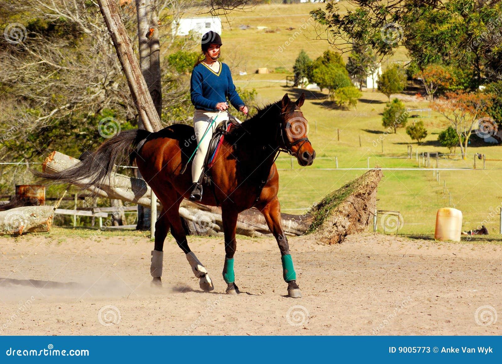 équitation de fille