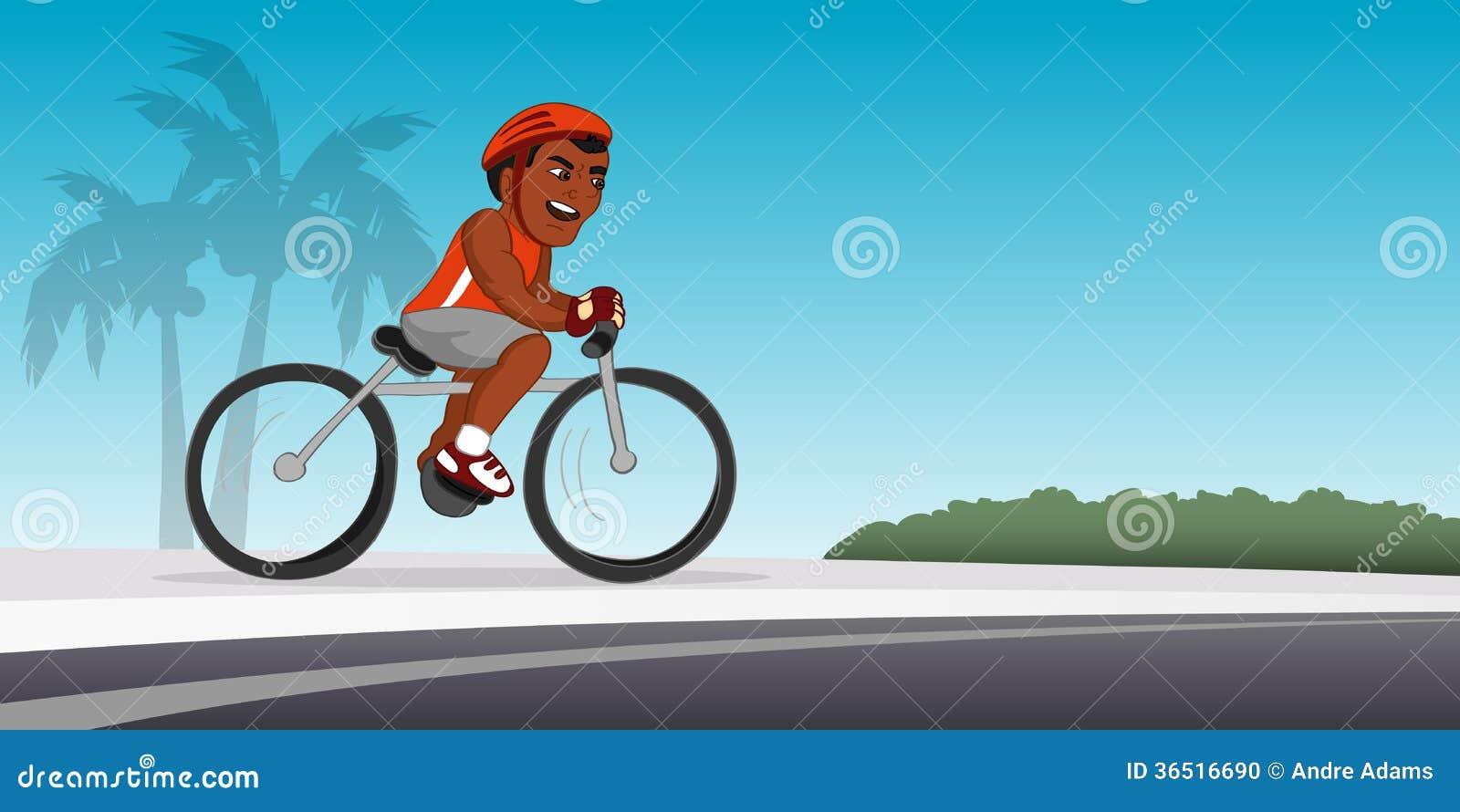 Équitation noire de cycliste