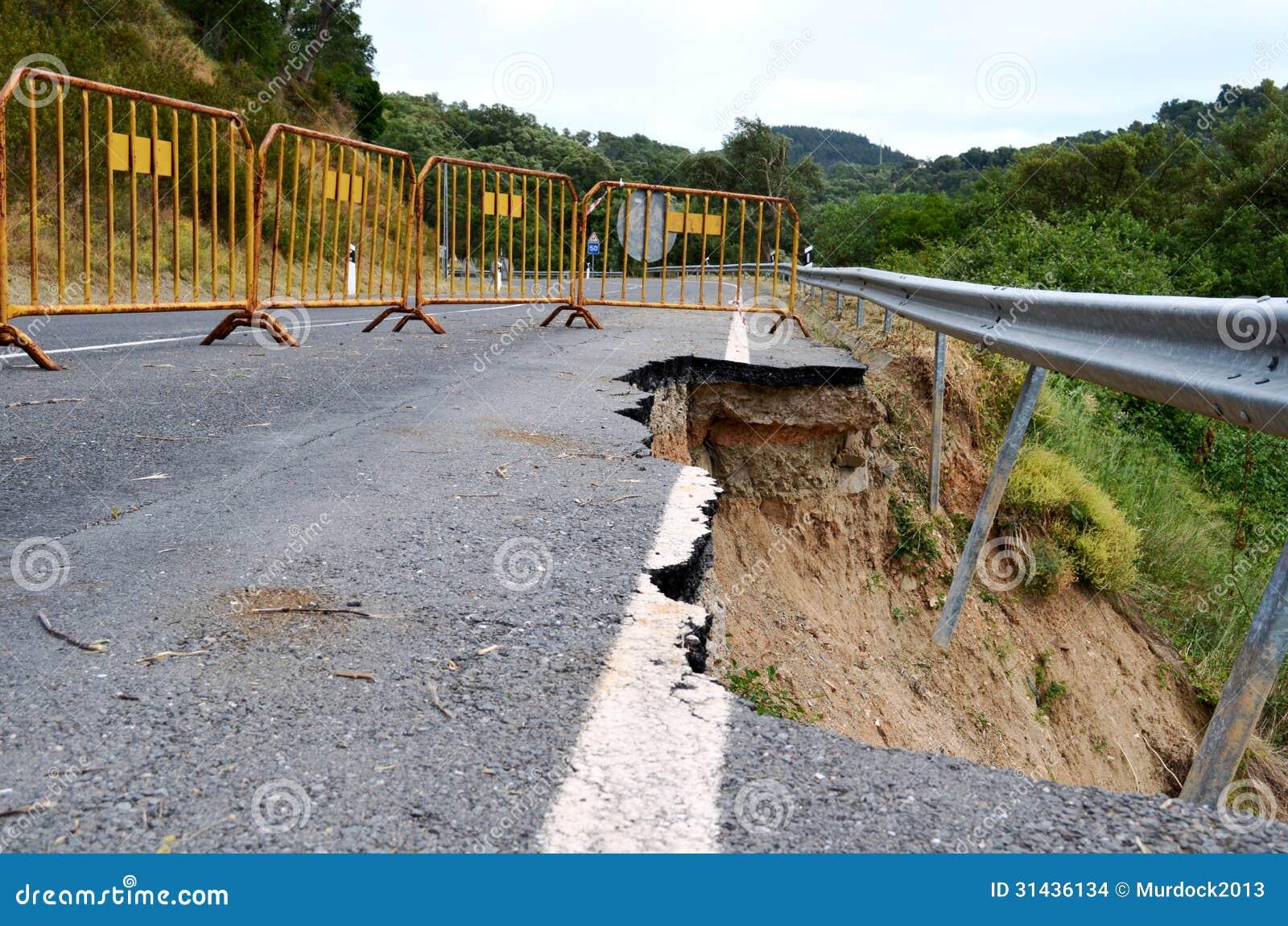 Érosion de route