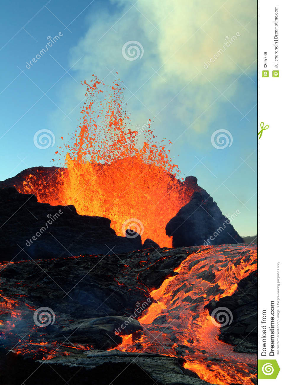 Éruption de volcan