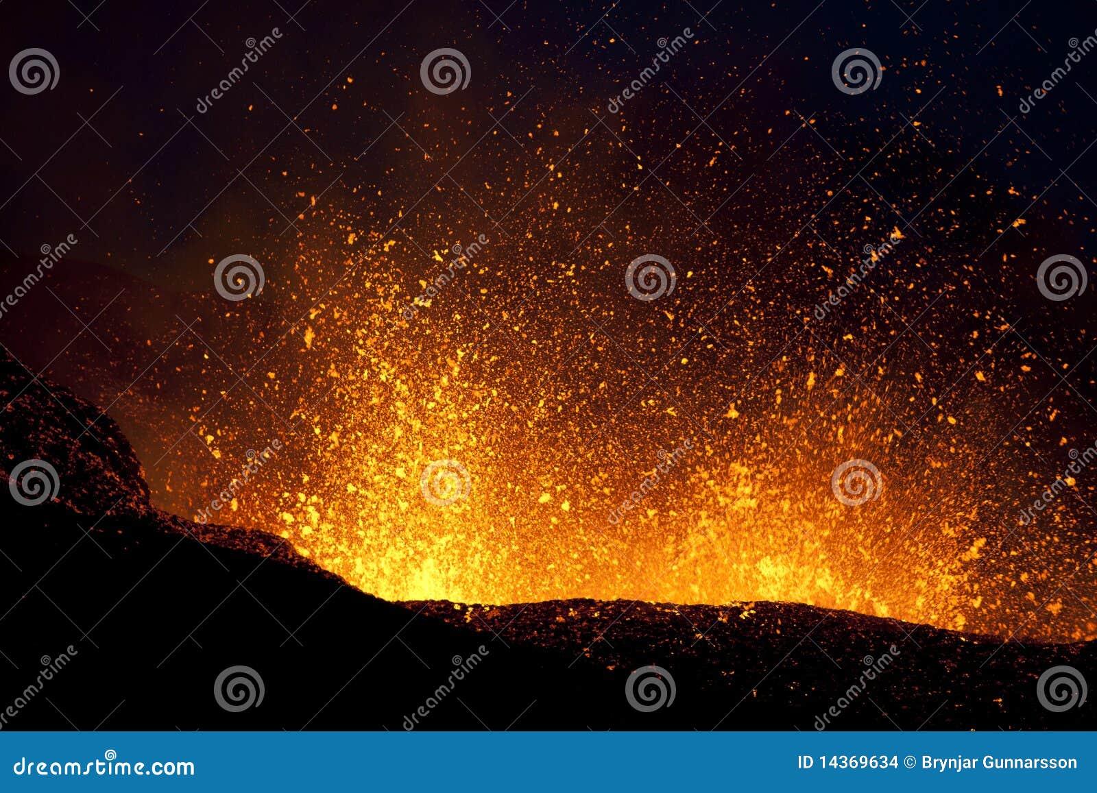Éruption de volcan, fimmvorduhals Islande