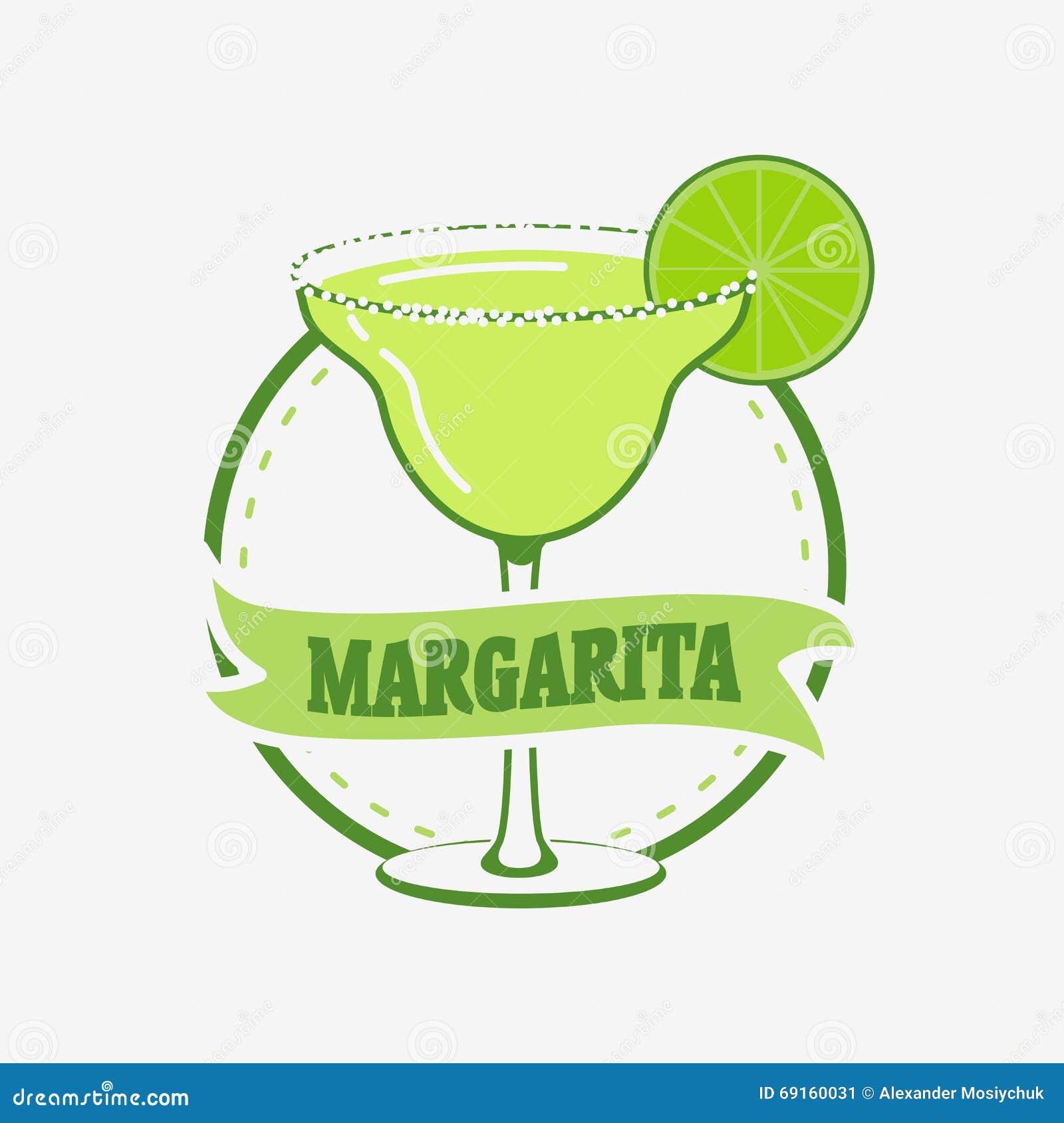 Été Margarita Cocktail Vector Concept
