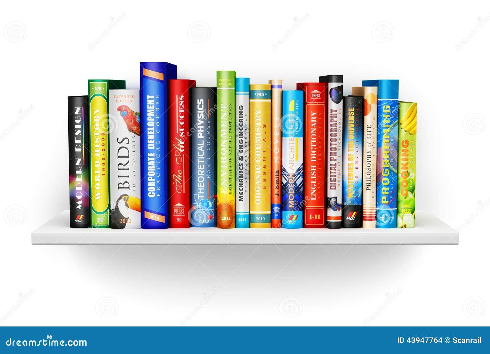 Pictures Of Bookshelves 201 Tag 232 Re Avec Livres Reli 233 S De Couleur Illustration Stock