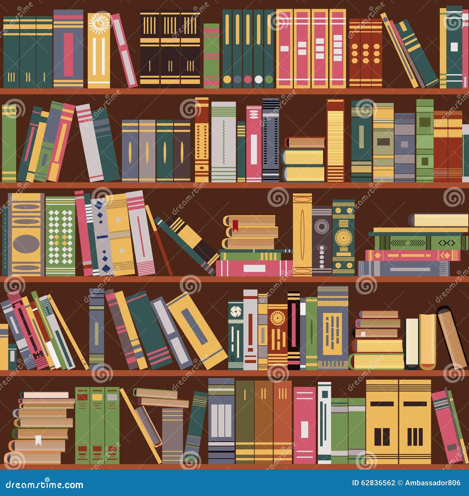 tag re livres biblioth que illustration stock illustration du d coration couleur 62836562. Black Bedroom Furniture Sets. Home Design Ideas