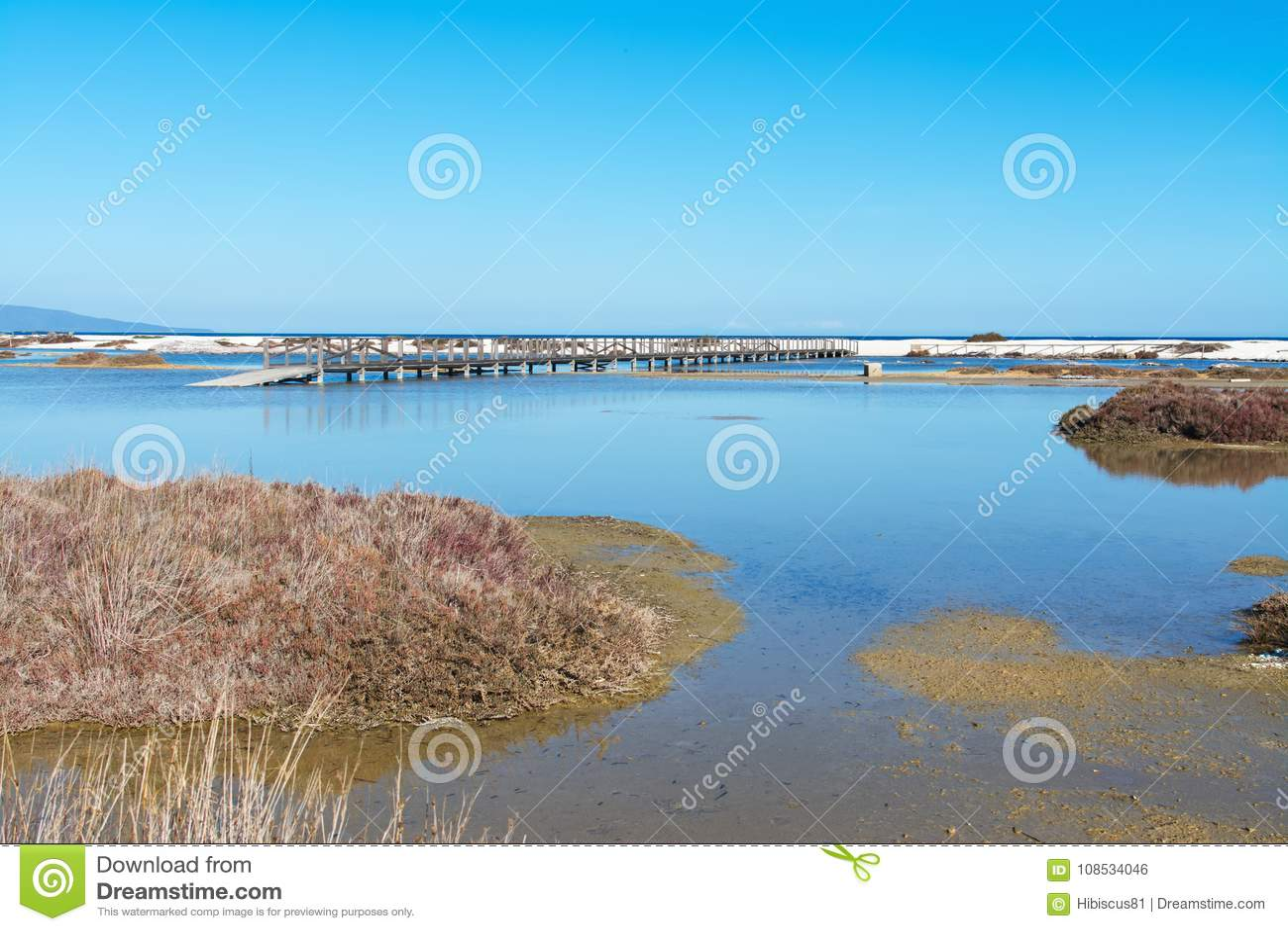Étang en plage de Le Saline
