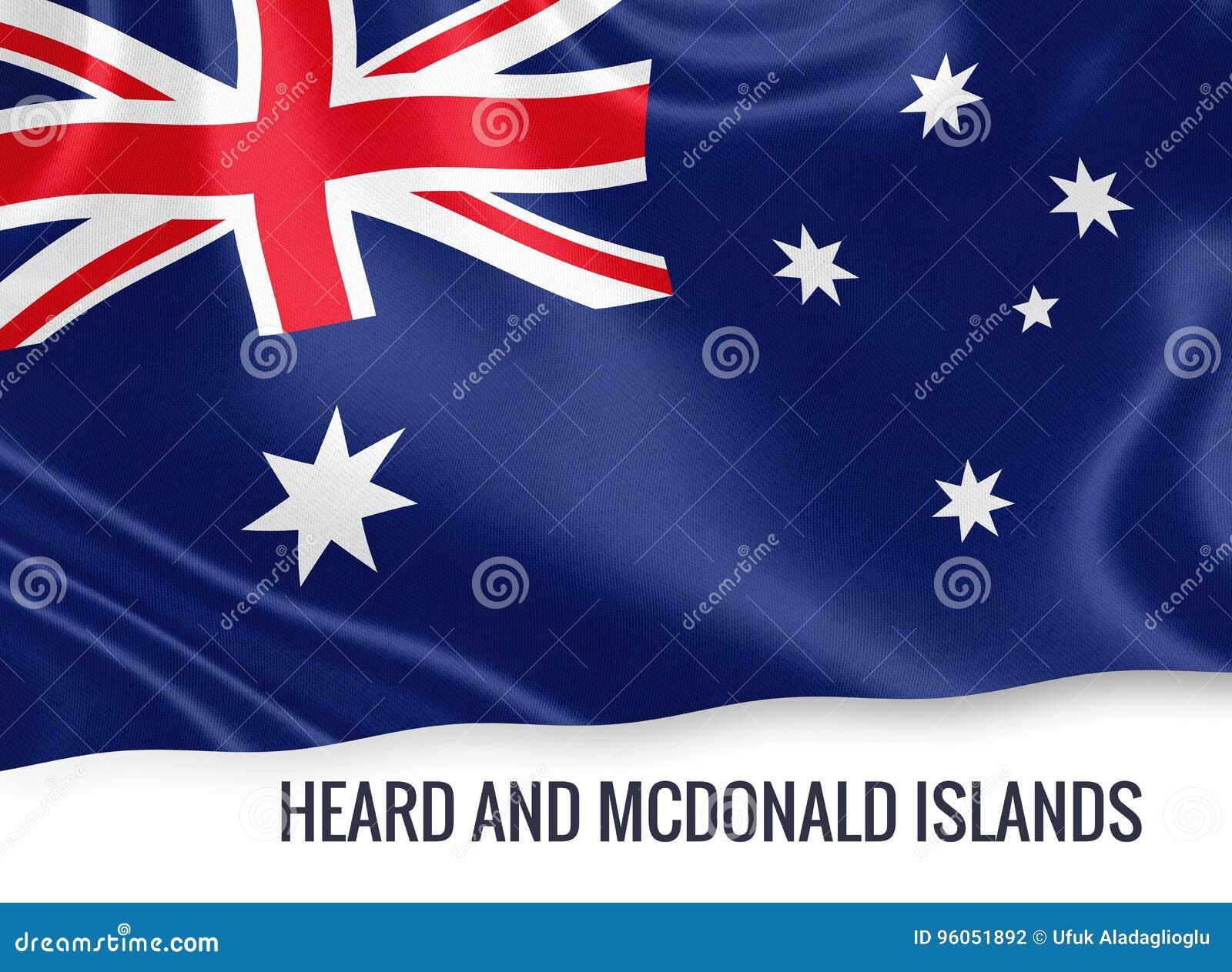 État australien entendu et drapeau d îles de Mcdonald
