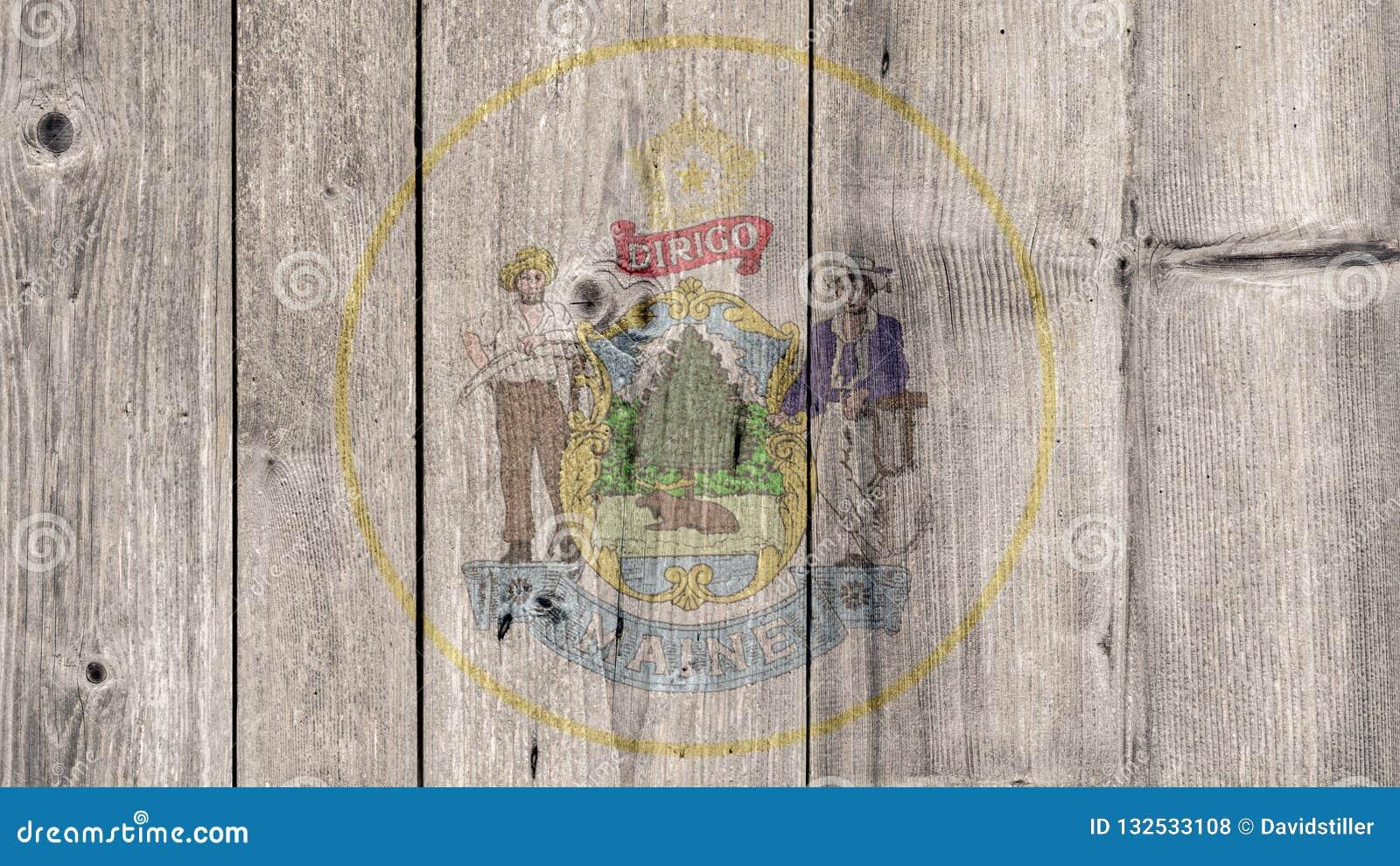 État d USA Maine Seal Wooden Fence