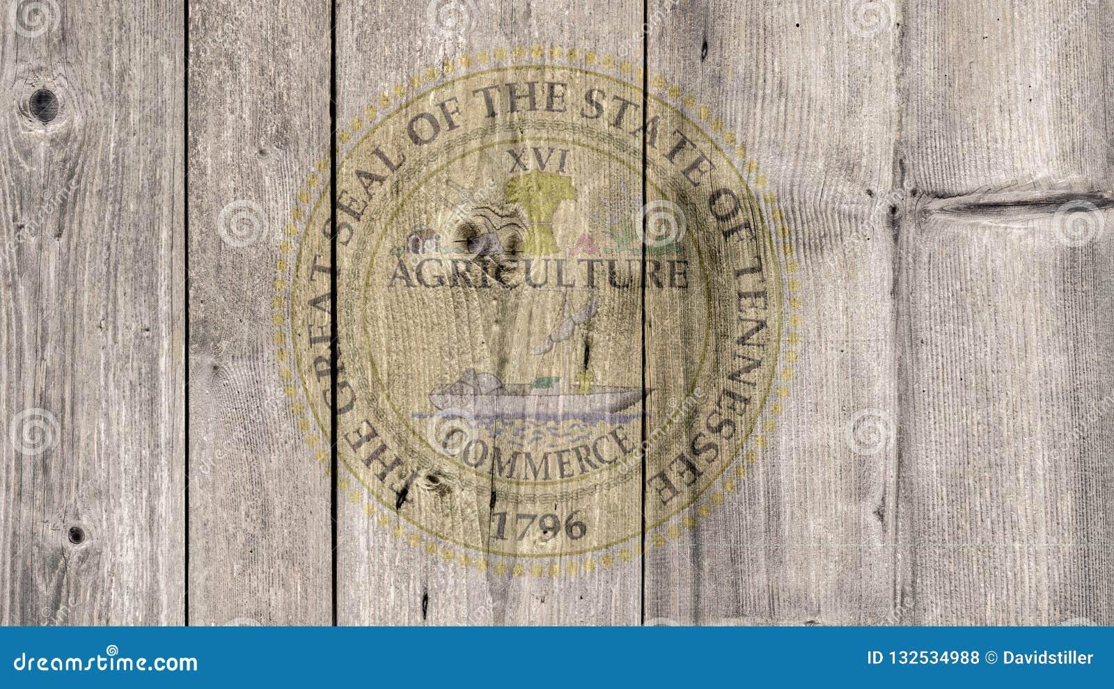 État d USA Tennessee Seal Wooden Fence