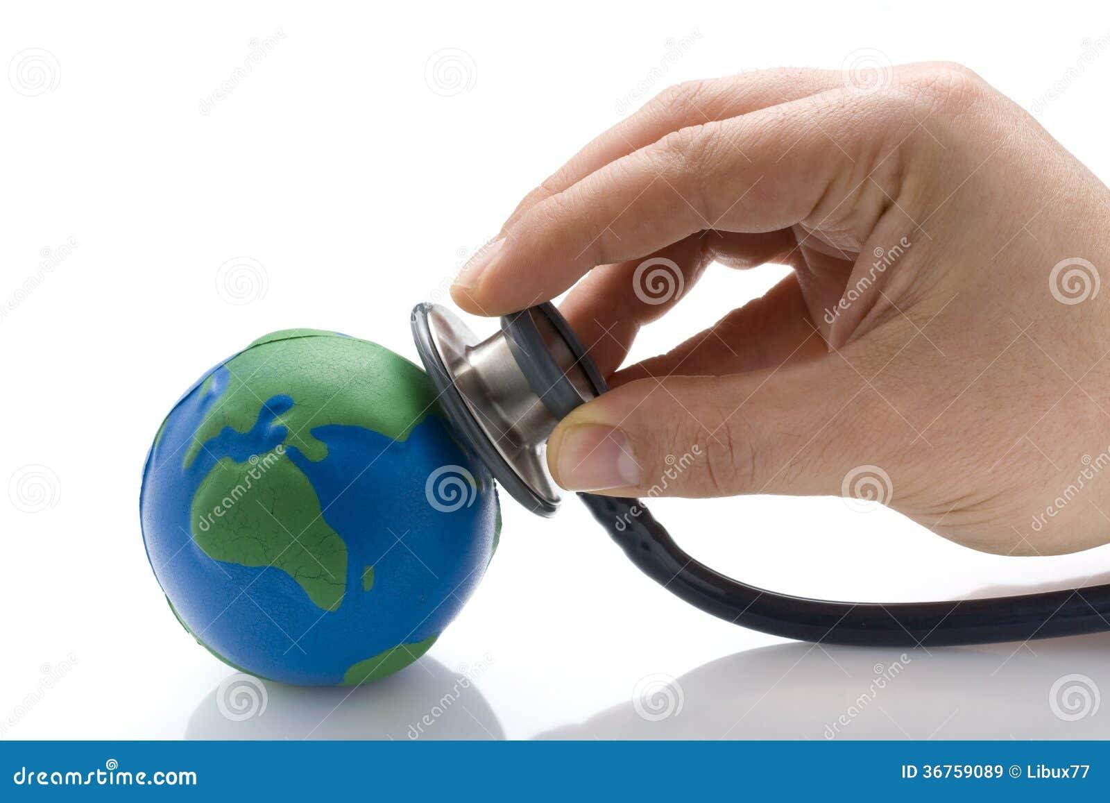 État de docteur Examining Earth s