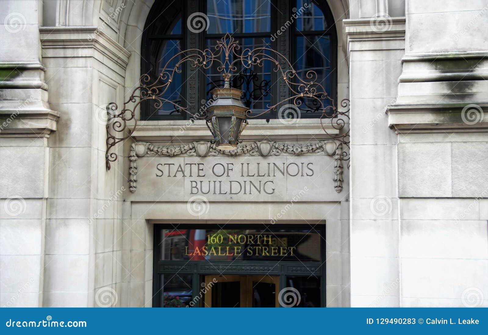 État de l Illinois construisant Chicago, l Illinois