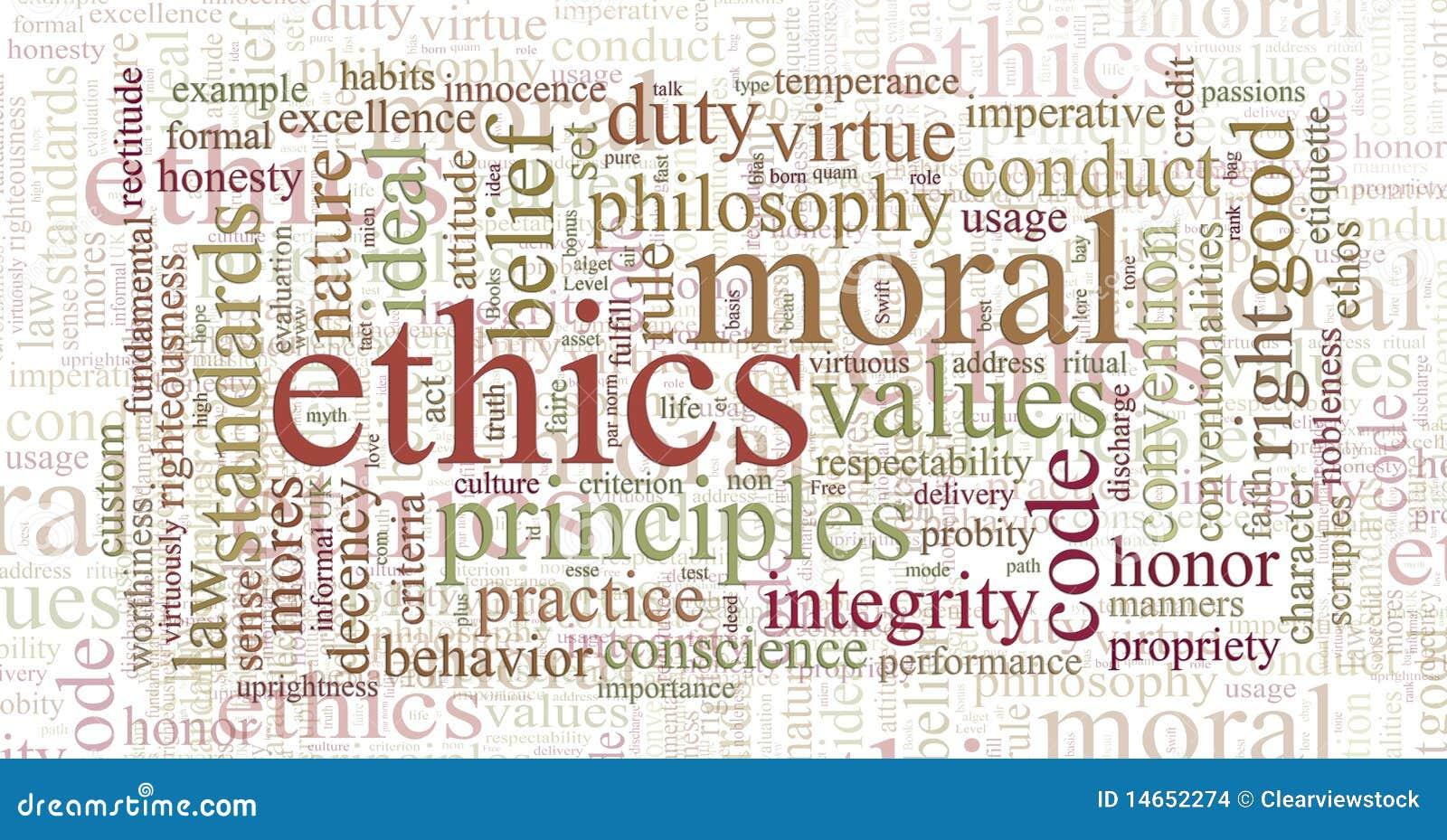Éticas e nuvem da palavra dos princípios