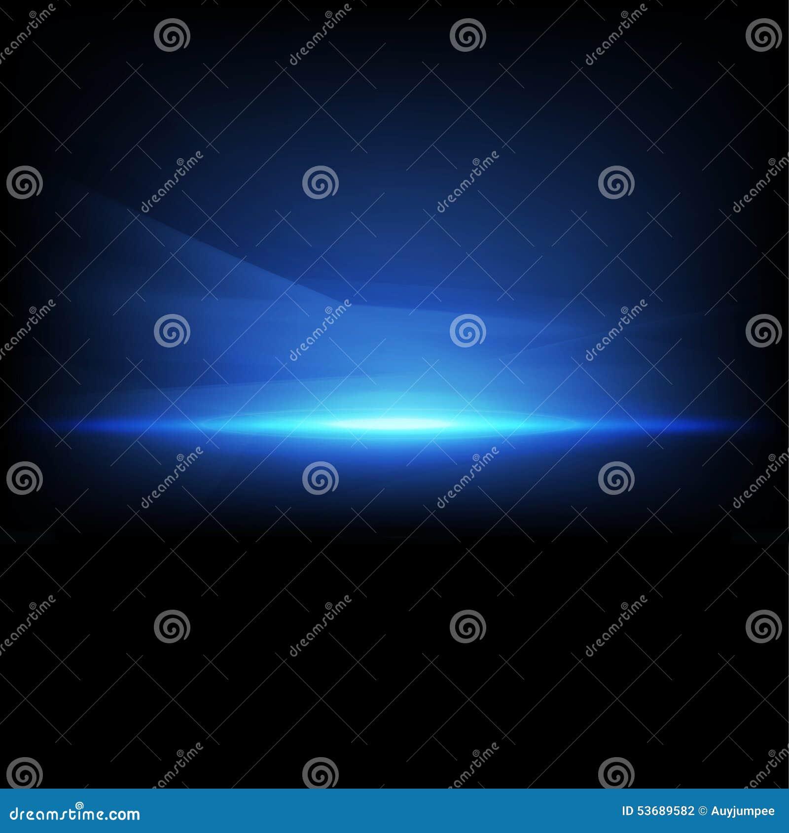 Étincelle abstraite et isolat bleu-clair d écoulement sur le fond, le vecteur et l illustration noirs